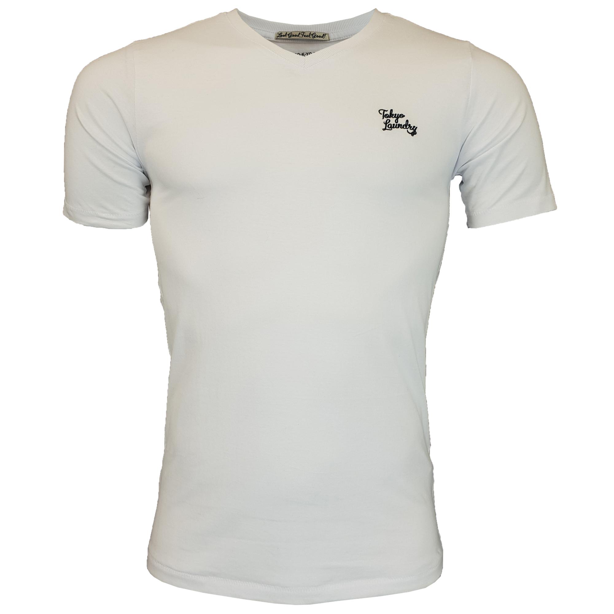 New-Mens-Tokyo-Laundry-3-Pack-Plain-Combed-Cotton-T-shirt-Top-Plain-Mix-Colours thumbnail 6
