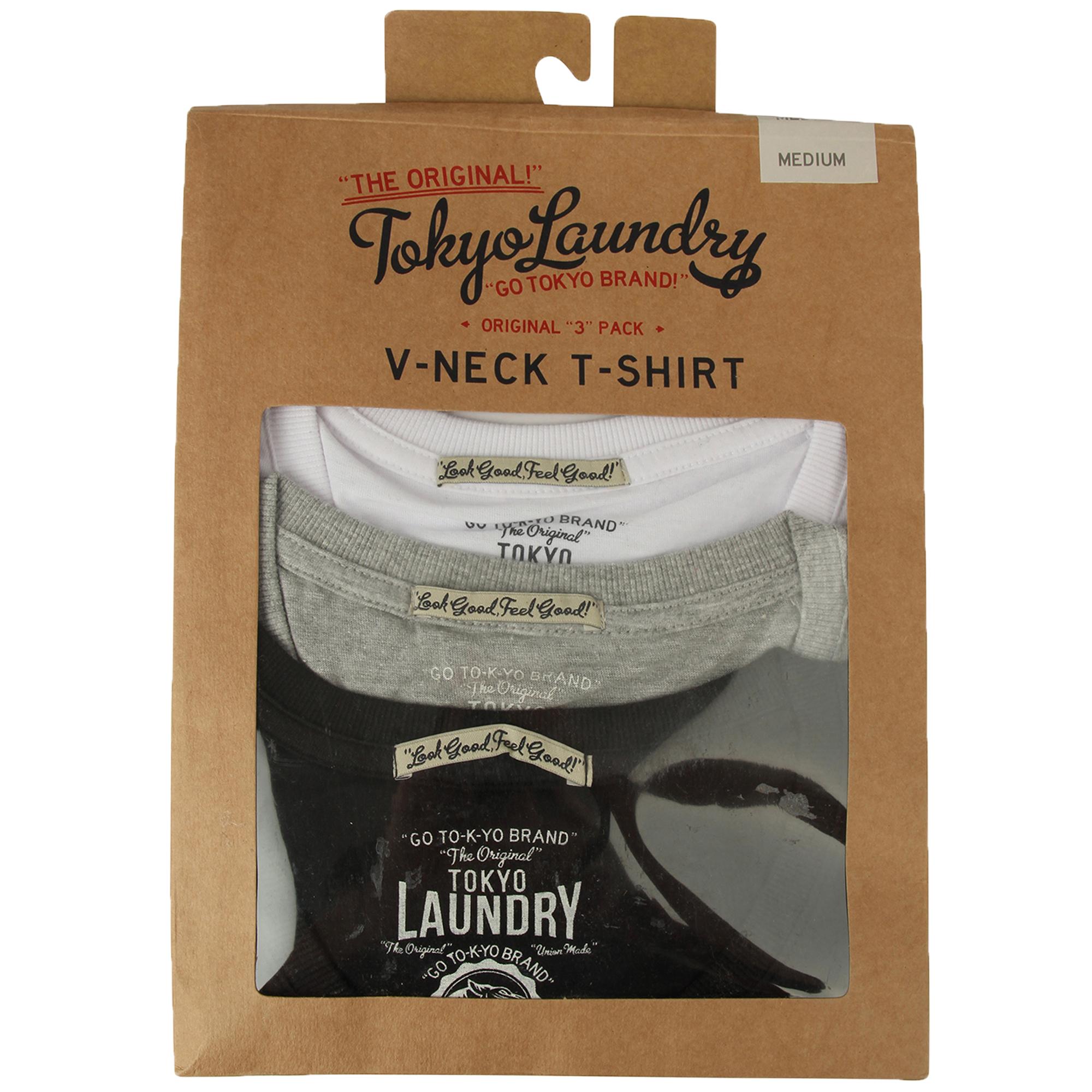 New-Mens-Tokyo-Laundry-3-Pack-Plain-Combed-Cotton-T-shirt-Top-Plain-Mix-Colours thumbnail 8
