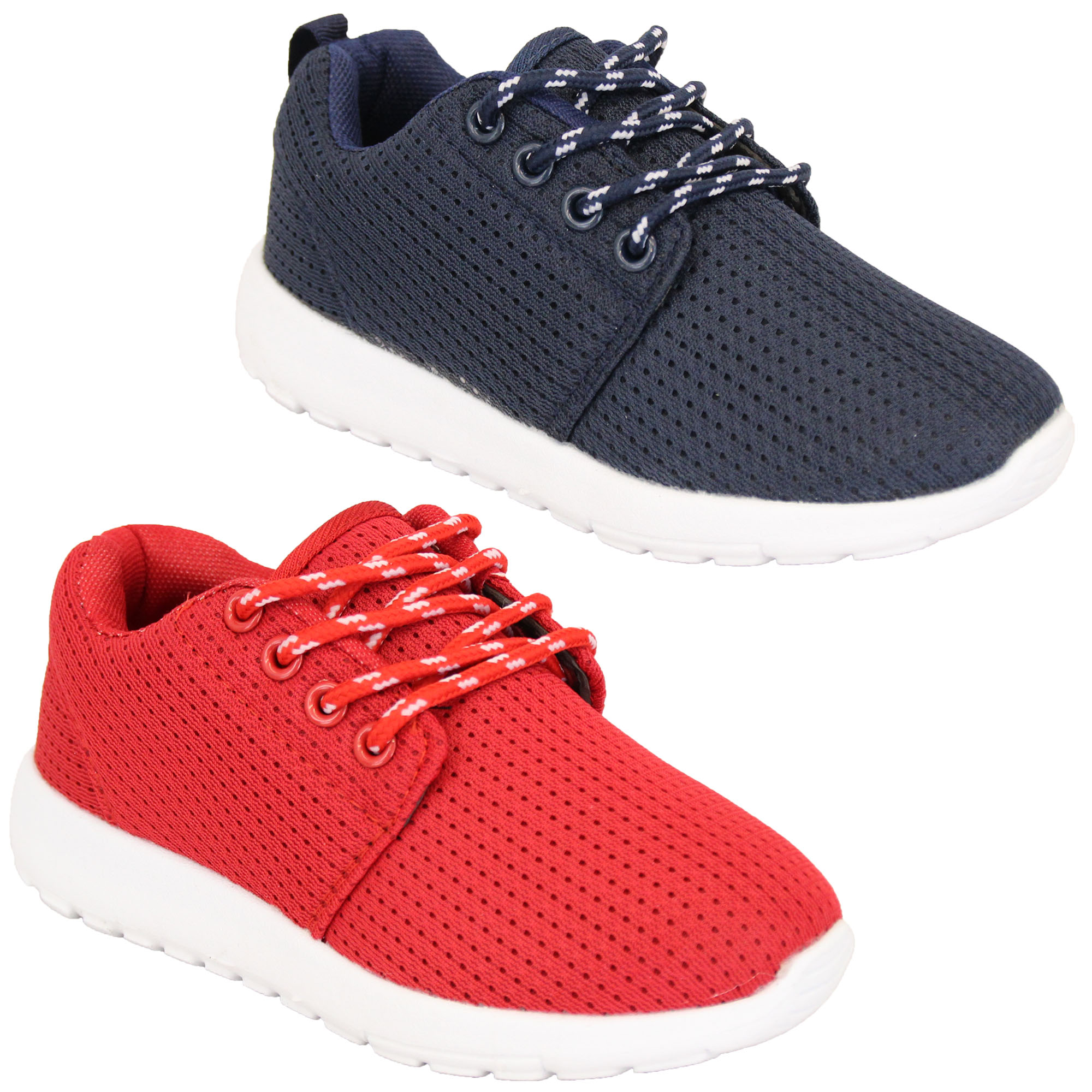 656535d137a8e Details about Boys Trainers Kids Lace Up Youth Running Toddlers Air Tech  Shoes Casual Fashion