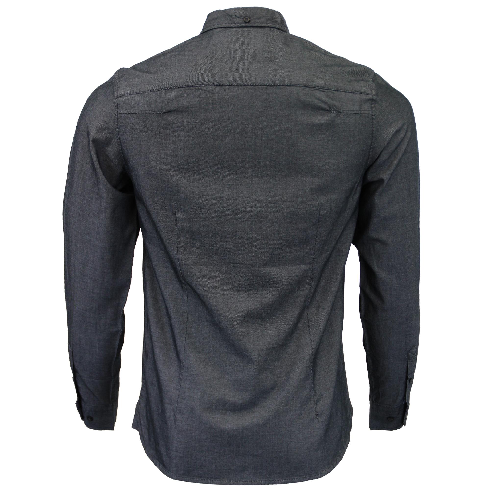 Herren-Baumwolle-Oxford-Twill-Shirt-Tokyo-Laundry-Top-Langarm-Freizeit-Designer Indexbild 3