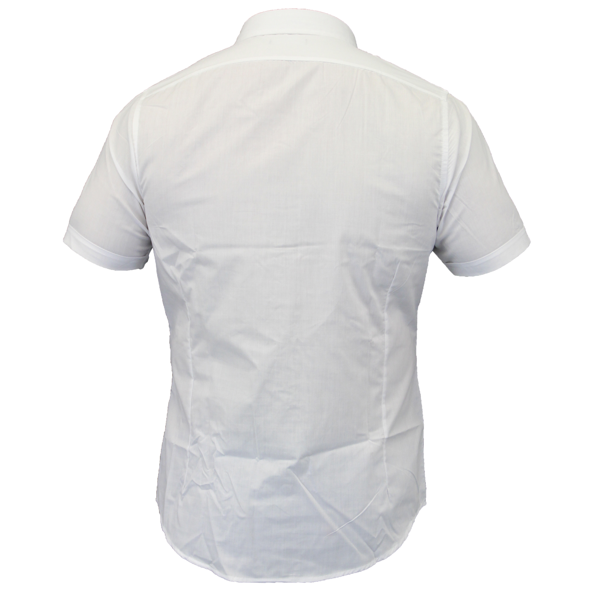 Mens-Shirts-Brave-Soul-Short-Sleeved-Slim-Fit-Mombassa-Plain-Collared-Summer-New thumbnail 14