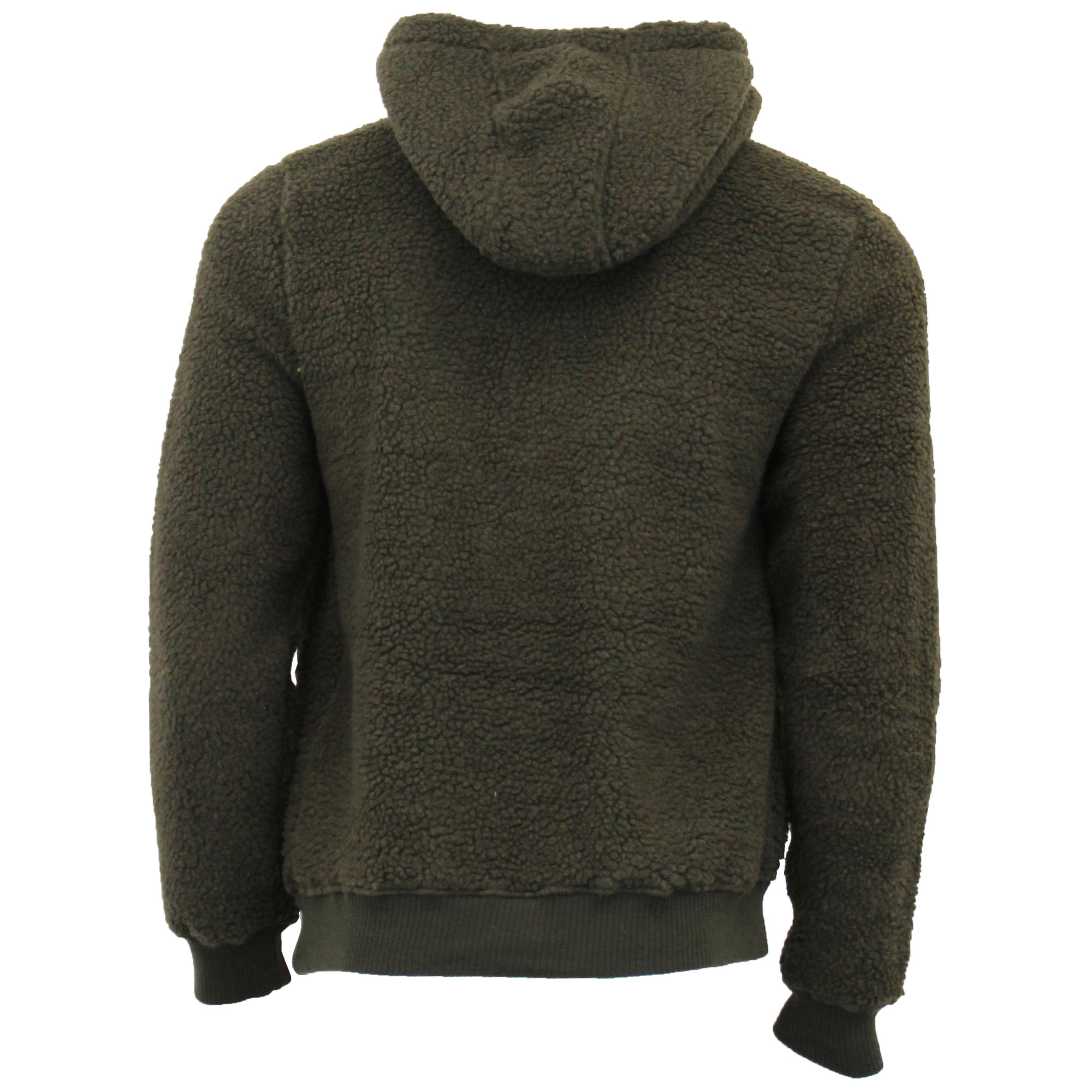 Mens-Borg-Sherpa-Fleece-Sweatshirt-Brave-Soul-DAIM-Over-The-Head-Hooded-Top-Warm thumbnail 7