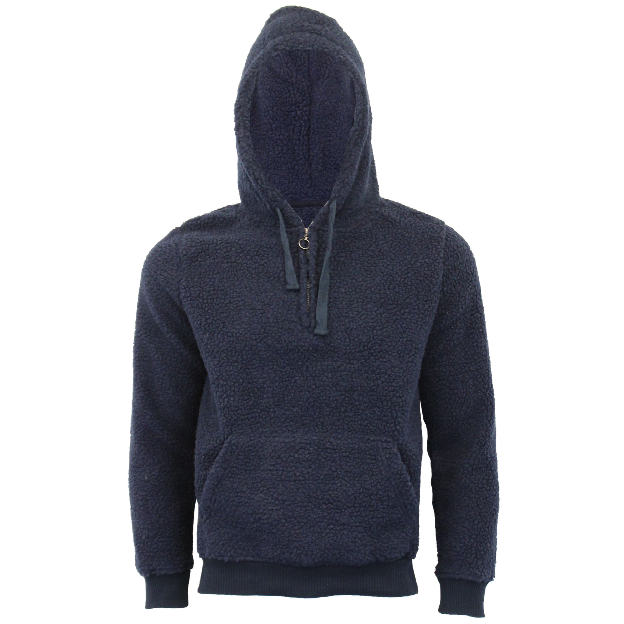 Mens-Borg-Sherpa-Fleece-Sweatshirt-Brave-Soul-DAIM-Over-The-Head-Hooded-Top-Warm thumbnail 10