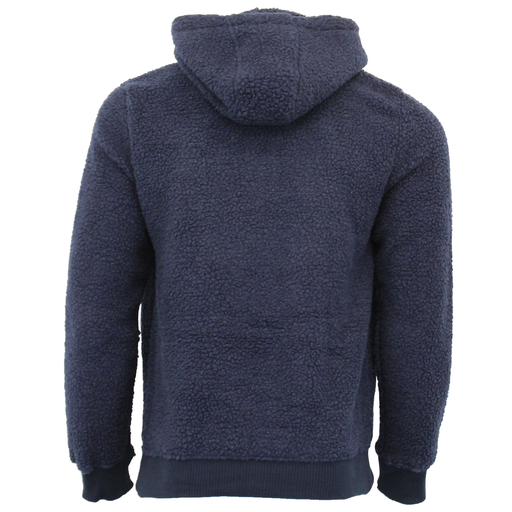 Mens-Borg-Sherpa-Fleece-Sweatshirt-Brave-Soul-DAIM-Over-The-Head-Hooded-Top-Warm thumbnail 11