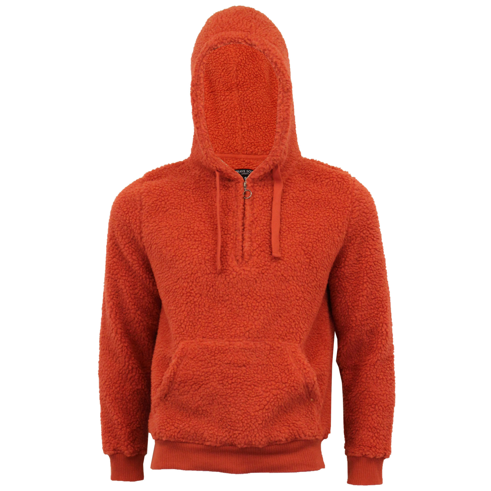 Mens-Borg-Sherpa-Fleece-Sweatshirt-Brave-Soul-DAIM-Over-The-Head-Hooded-Top-Warm thumbnail 14