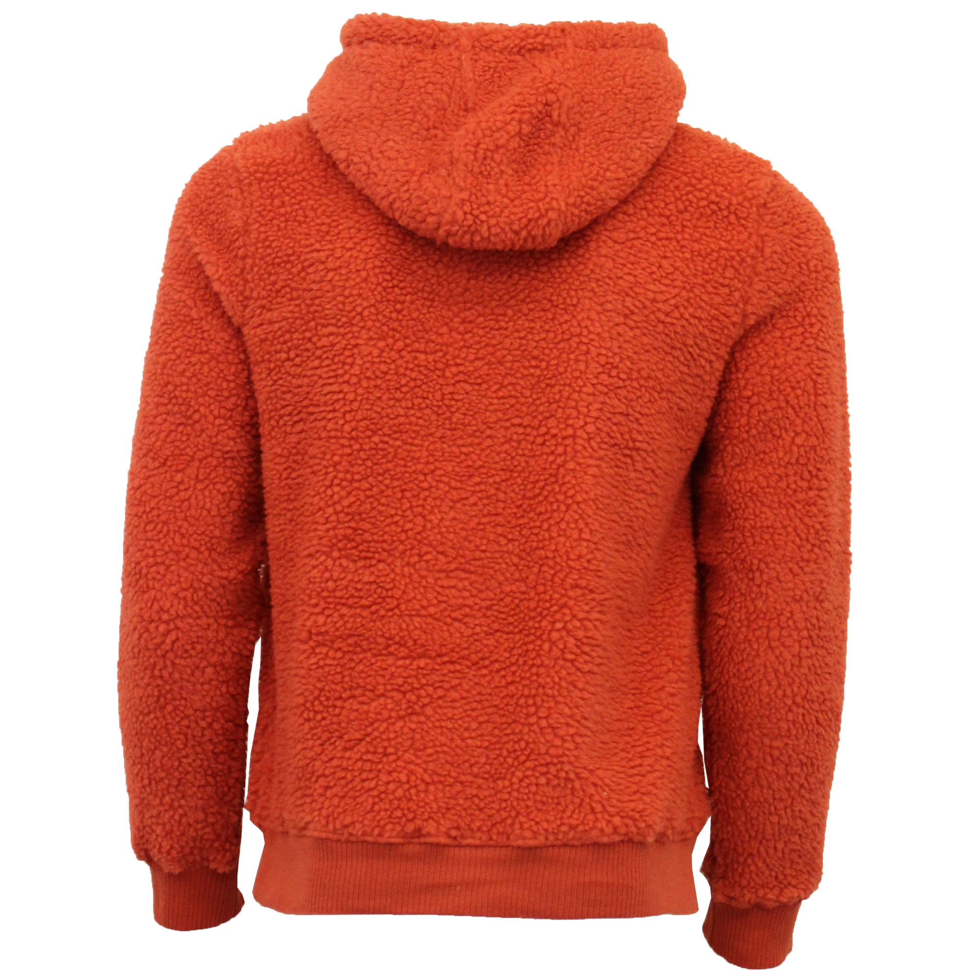 Mens-Borg-Sherpa-Fleece-Sweatshirt-Brave-Soul-DAIM-Over-The-Head-Hooded-Top-Warm thumbnail 15