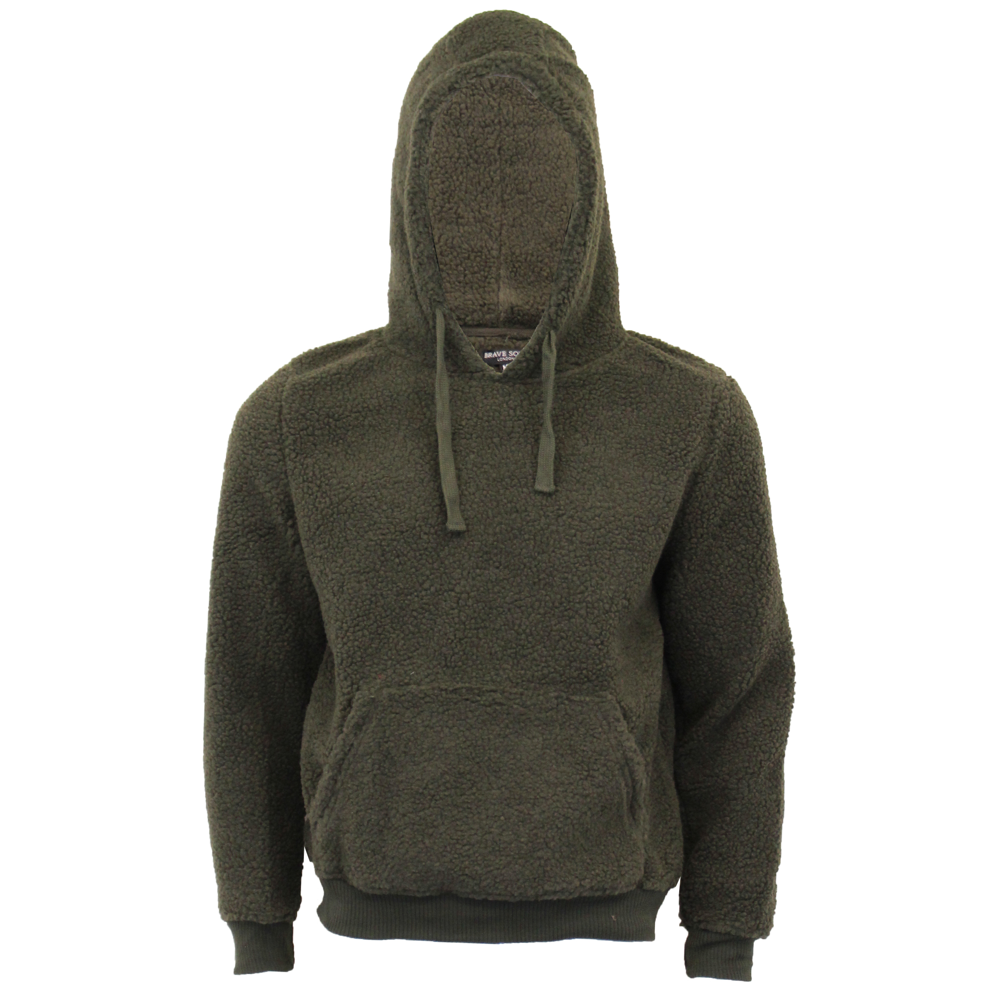 Mens-Sherpa-Fleece-Borg-Sweatshirt-Brave-Soul-Over-The-Head-GROMIT-Hooded-Top thumbnail 7