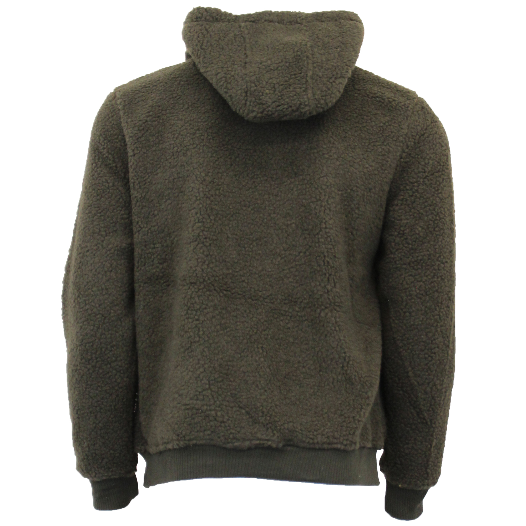 Mens-Sherpa-Fleece-Borg-Sweatshirt-Brave-Soul-Over-The-Head-GROMIT-Hooded-Top thumbnail 8
