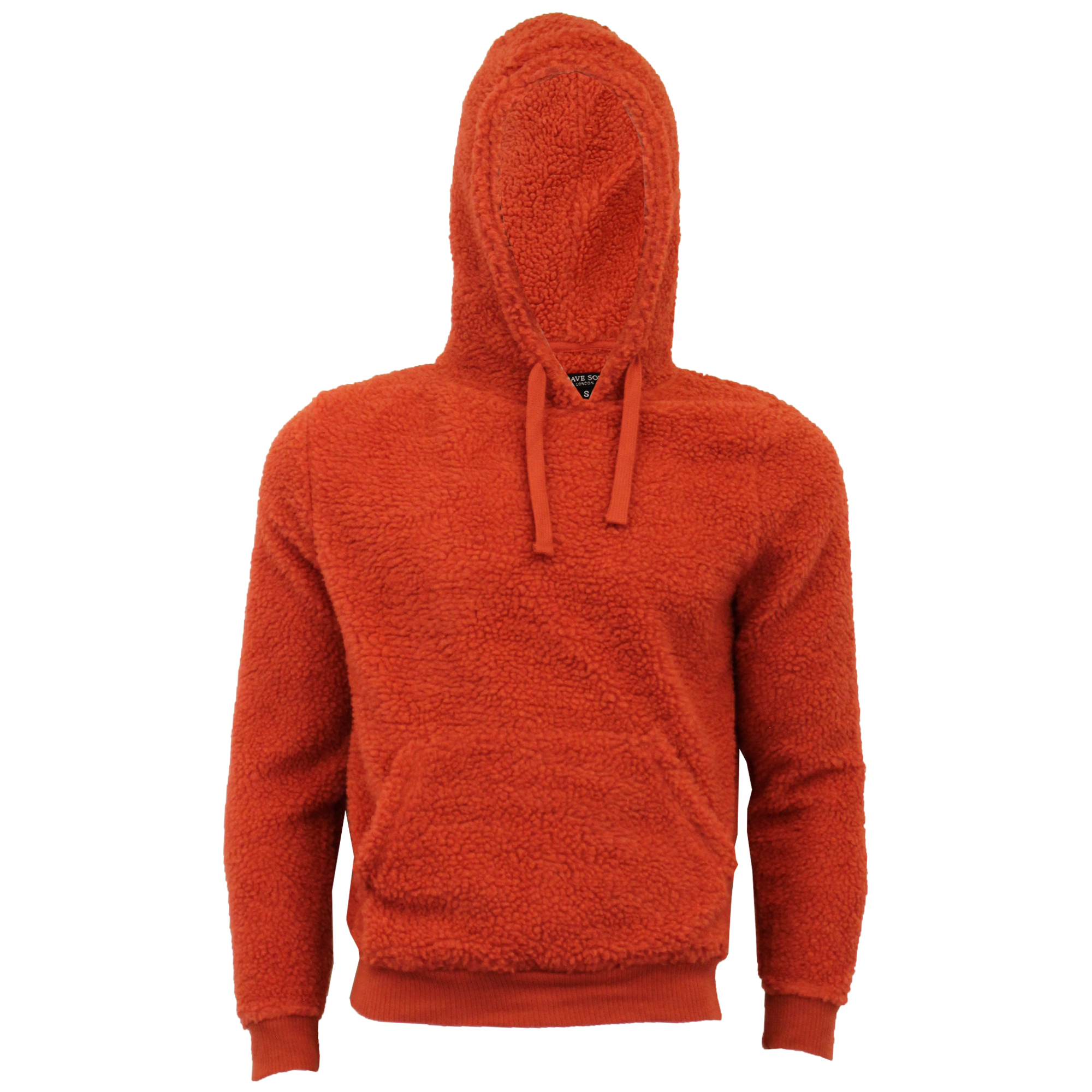 Mens-Sherpa-Fleece-Borg-Sweatshirt-Brave-Soul-Over-The-Head-GROMIT-Hooded-Top thumbnail 15