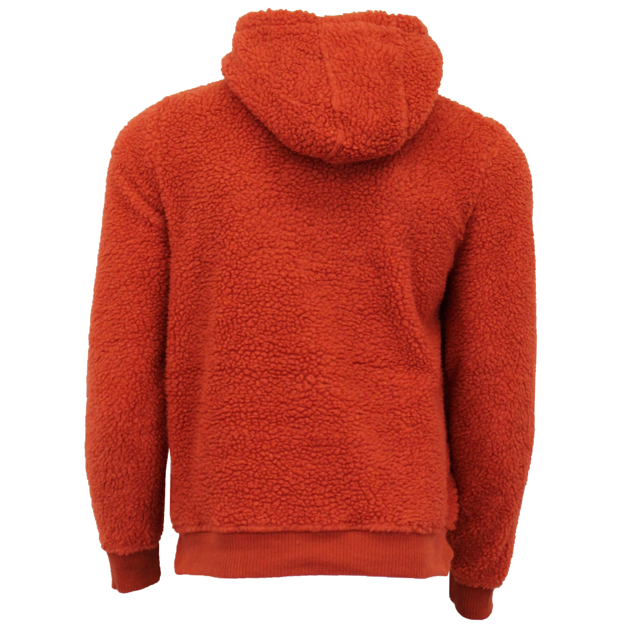 Mens-Sherpa-Fleece-Borg-Sweatshirt-Brave-Soul-Over-The-Head-GROMIT-Hooded-Top thumbnail 16