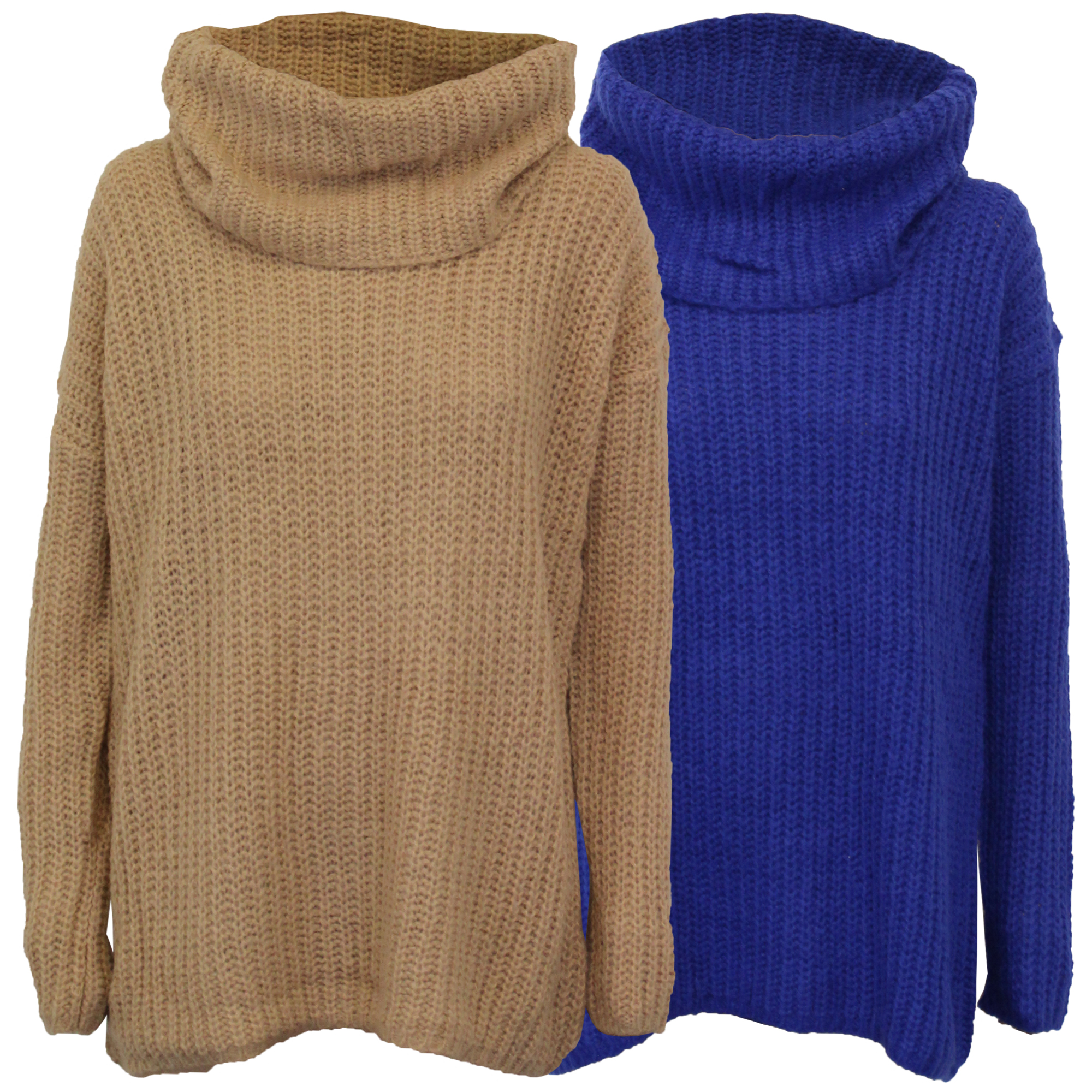 8e7d83443 Ladies Jumper Brave Soul Women Cable Knitted Polo Turtle Roll Neck ...