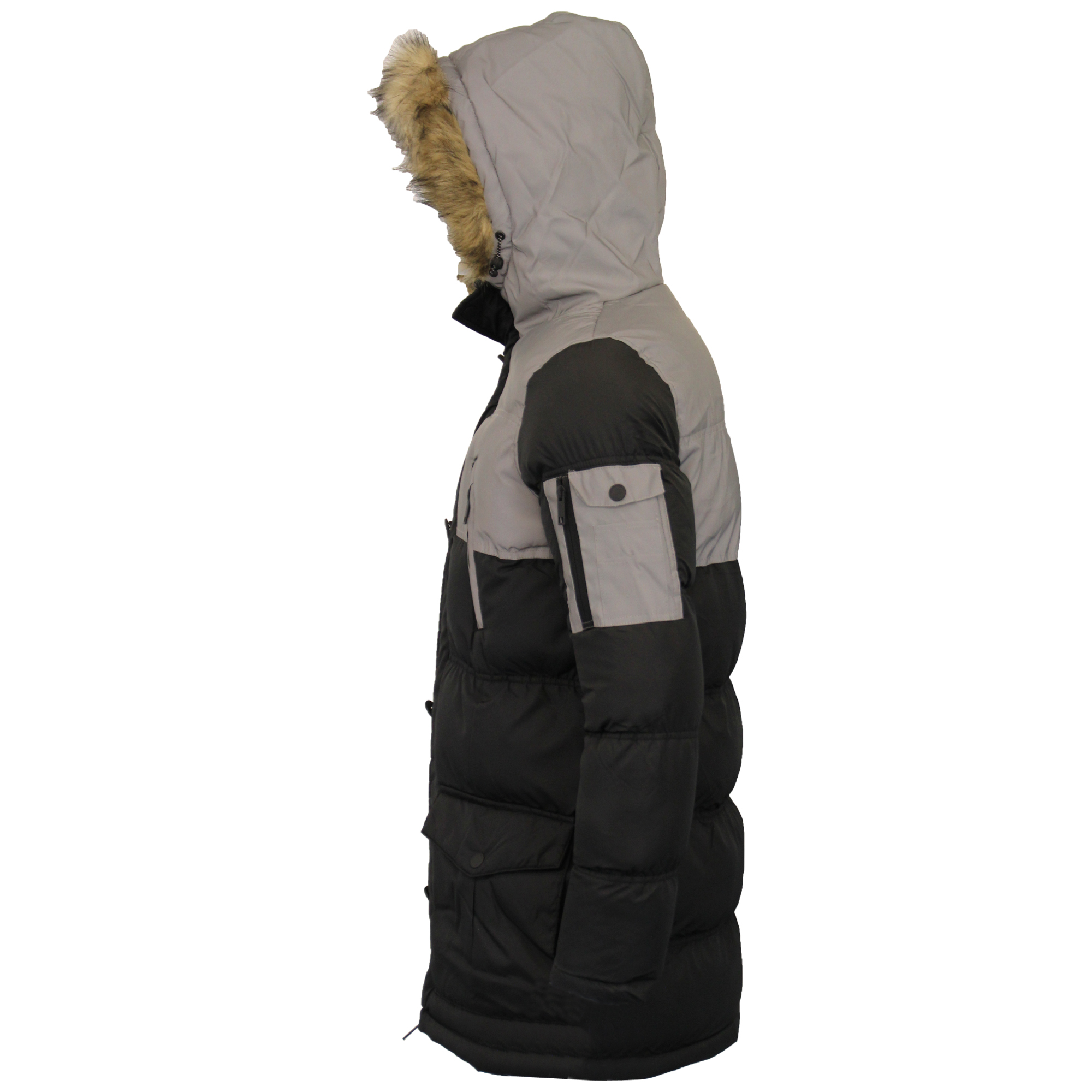 Mens-Reflective-Long-Bubble-Parka-Jacket-Brave-Soul-Coat-Hooded-Padded-Winter thumbnail 4