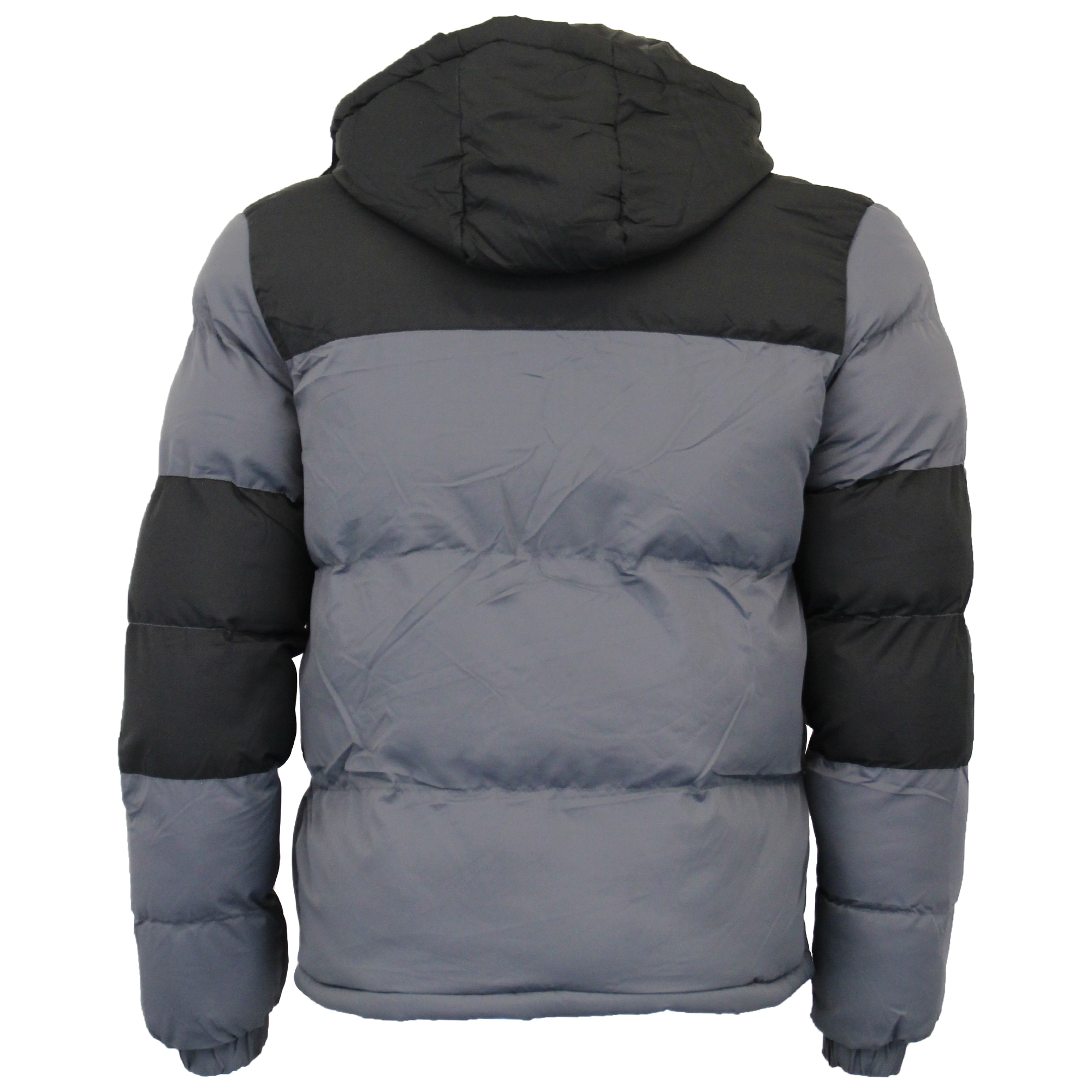 709ff59ff5cd Mens Bubble Jacket Brave Soul Coat Hoodie Quilted Padded DALE Winter ...