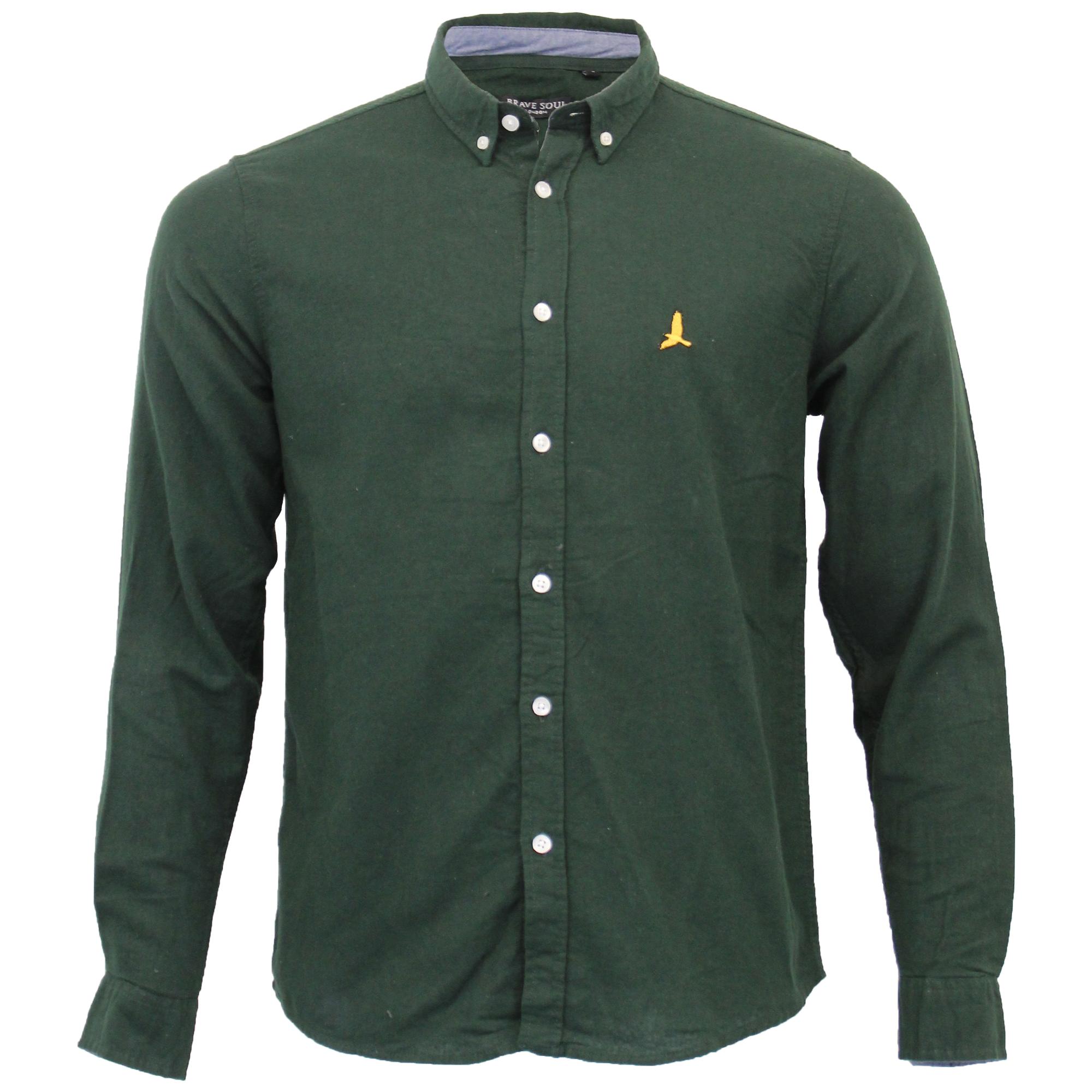 Mens-Brushed-Cotton-Shirt-Brave-Soul-Long-Sleeved-Flannel-HOLMES-Casual-Designer thumbnail 11