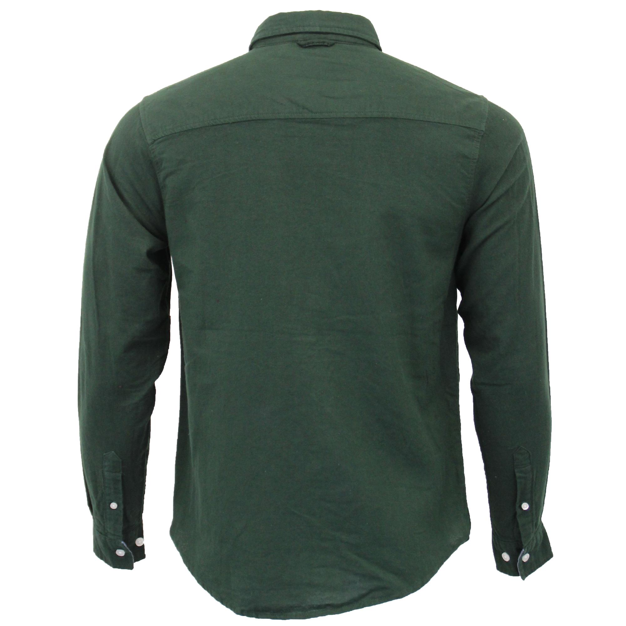 Mens-Brushed-Cotton-Shirt-Brave-Soul-Long-Sleeved-Flannel-HOLMES-Casual-Designer thumbnail 12