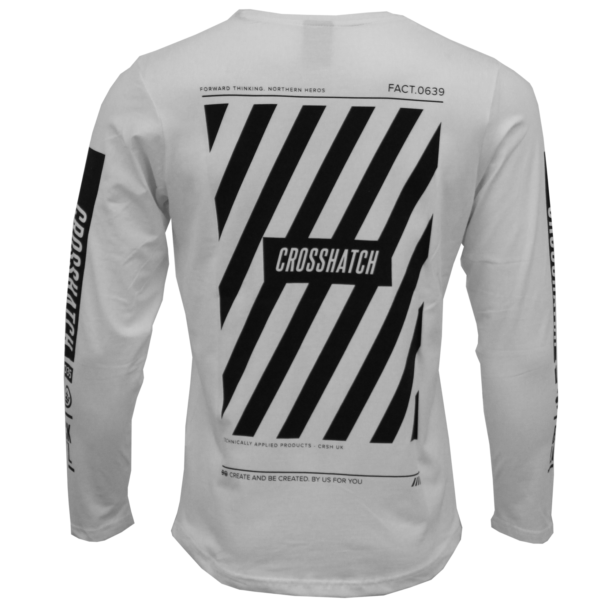 29c8dbebe726 Mens Long Sleeved Top Crosshatch Print Embroidery Crew Neck Fashion  Designer New
