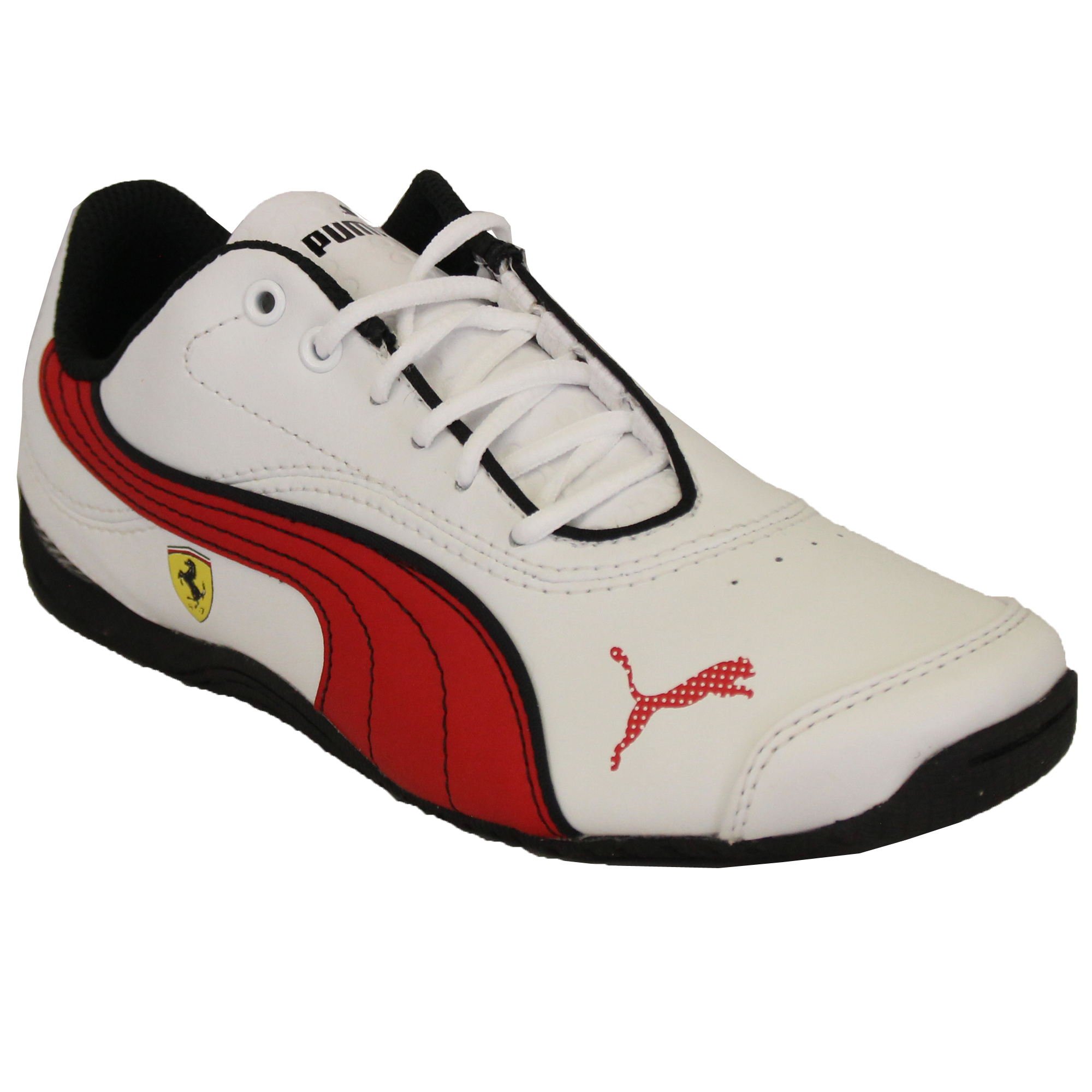 42736f91e612a Garçons Puma Ferrari Baskets Cuir Enfants Evo Power Speed Chat ...