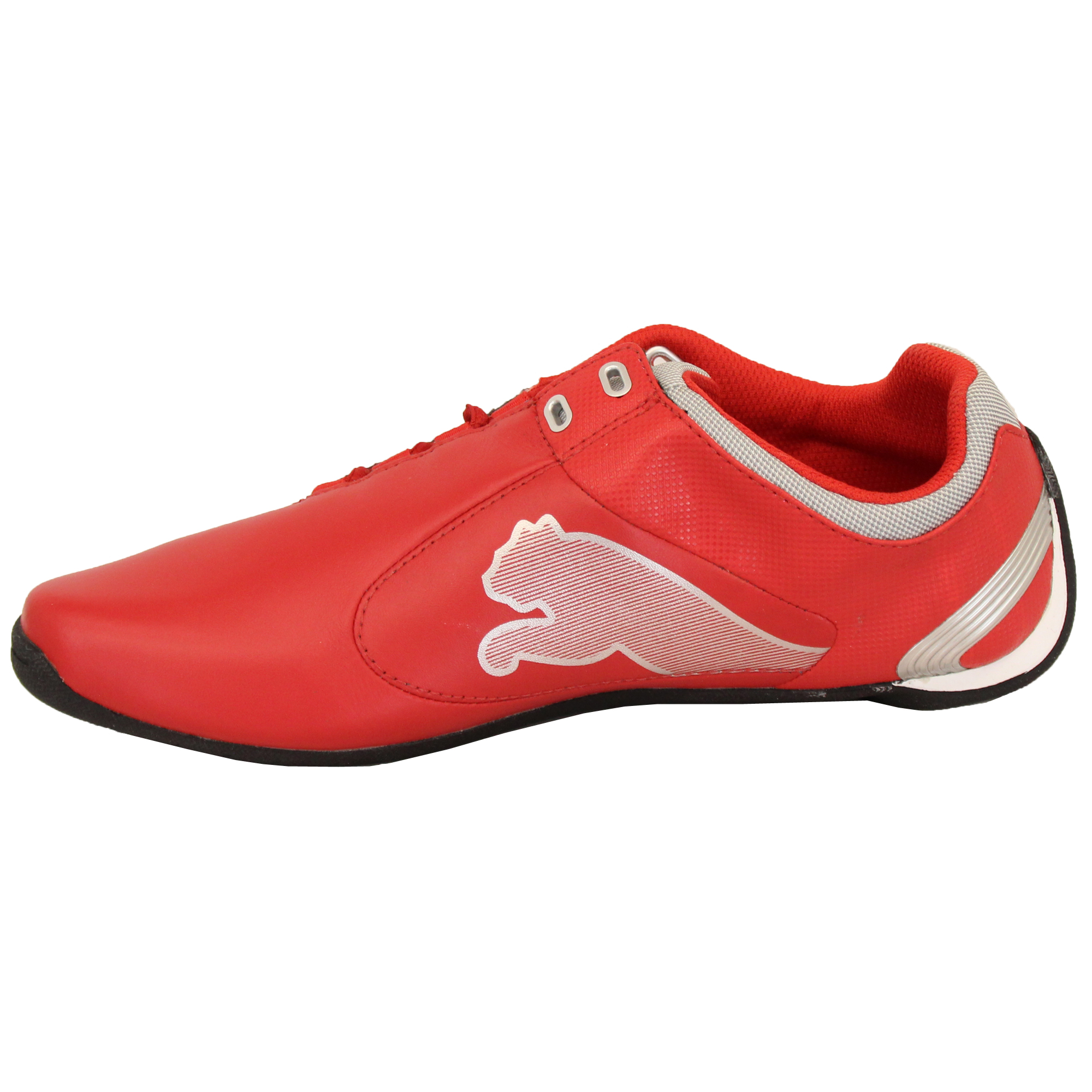 Boys-PUMA-Ferrari-Leather-Trainers-Kids-Evo-Power-Speed-Cat-Sports-Shoes-Casual thumbnail 3