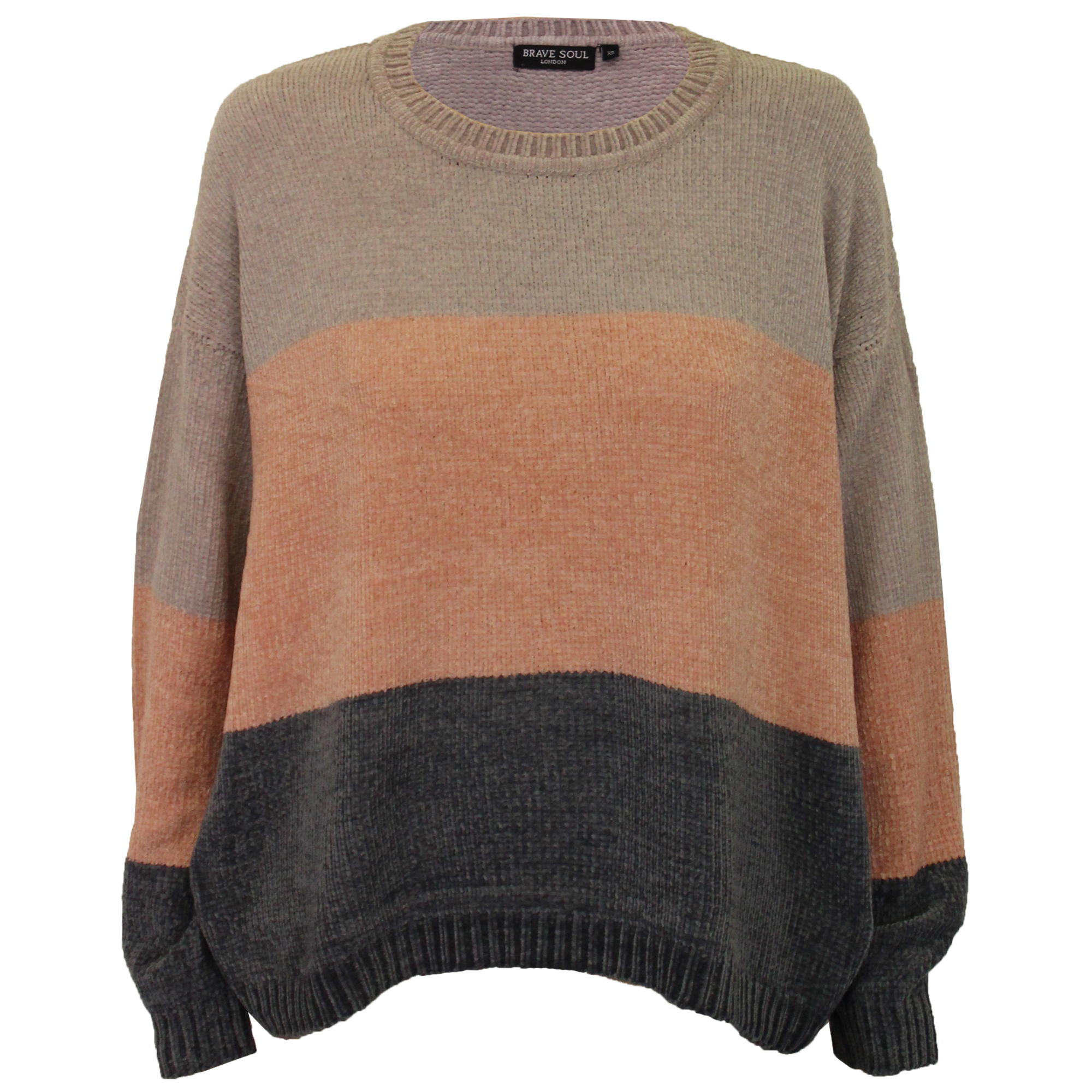 ca3cfb548375 Details about Ladies Chenille Block Jumper Brave Soul Womens Knitted PANDA  Crew Neck Winter