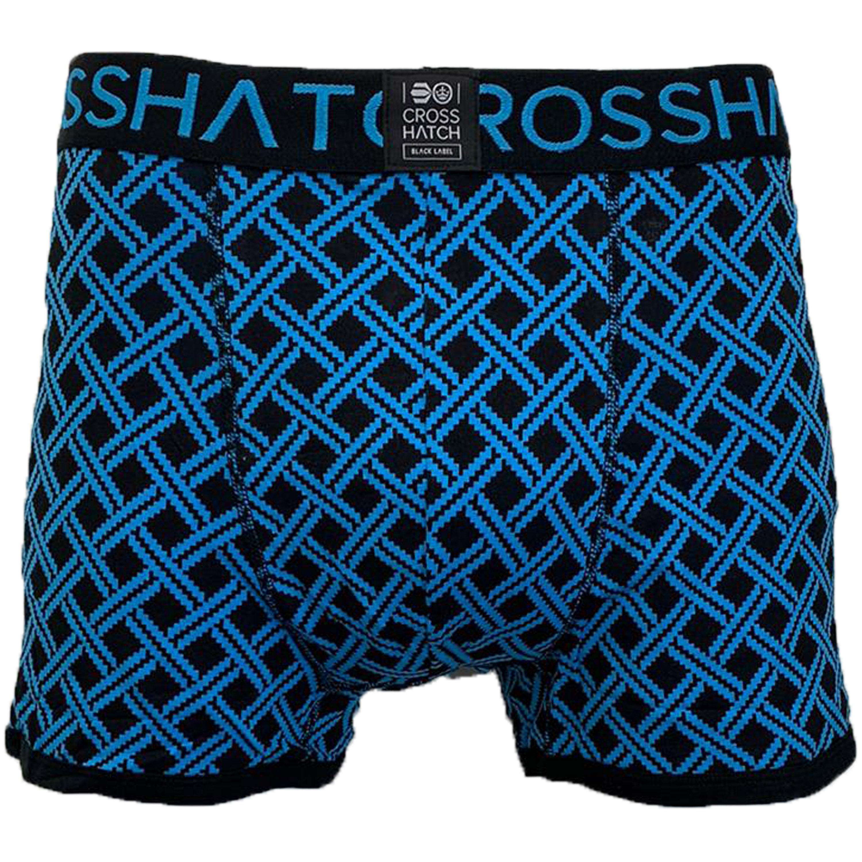 thumbnail 4 - Mens Boxer Crosshatch Underwear Printed Trunks 3 Pack NEON Shorts Plain Designer
