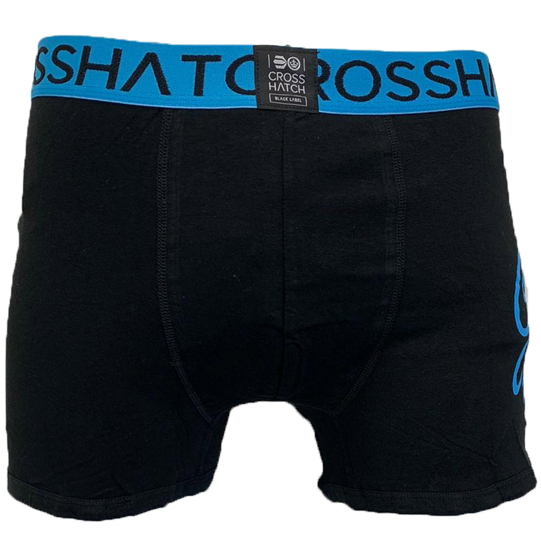 thumbnail 5 - Mens Boxer Crosshatch Underwear Printed Trunks 3 Pack NEON Shorts Plain Designer