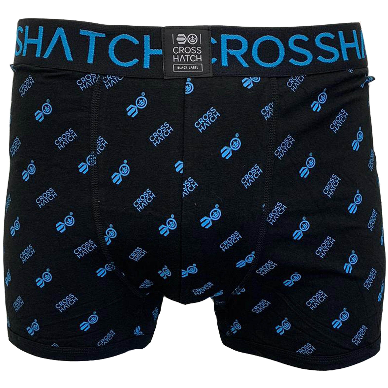 thumbnail 6 - Mens Boxer Crosshatch Underwear Printed Trunks 3 Pack NEON Shorts Plain Designer