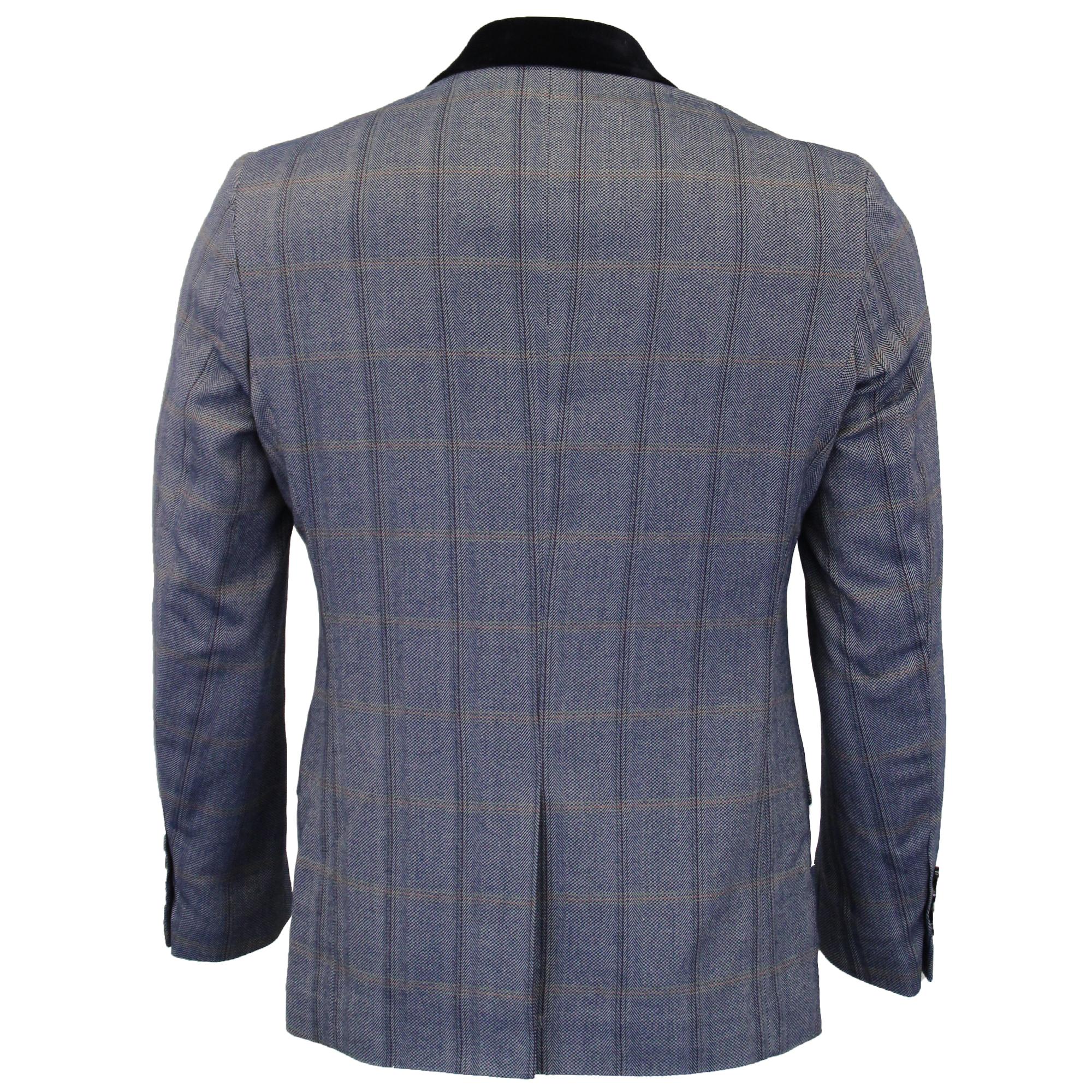 Mens-Tweed-3-Piece-Suit-Cavani-Blazer-Waistcoat-Trousers-Checked-Peaky-Blinders thumbnail 3