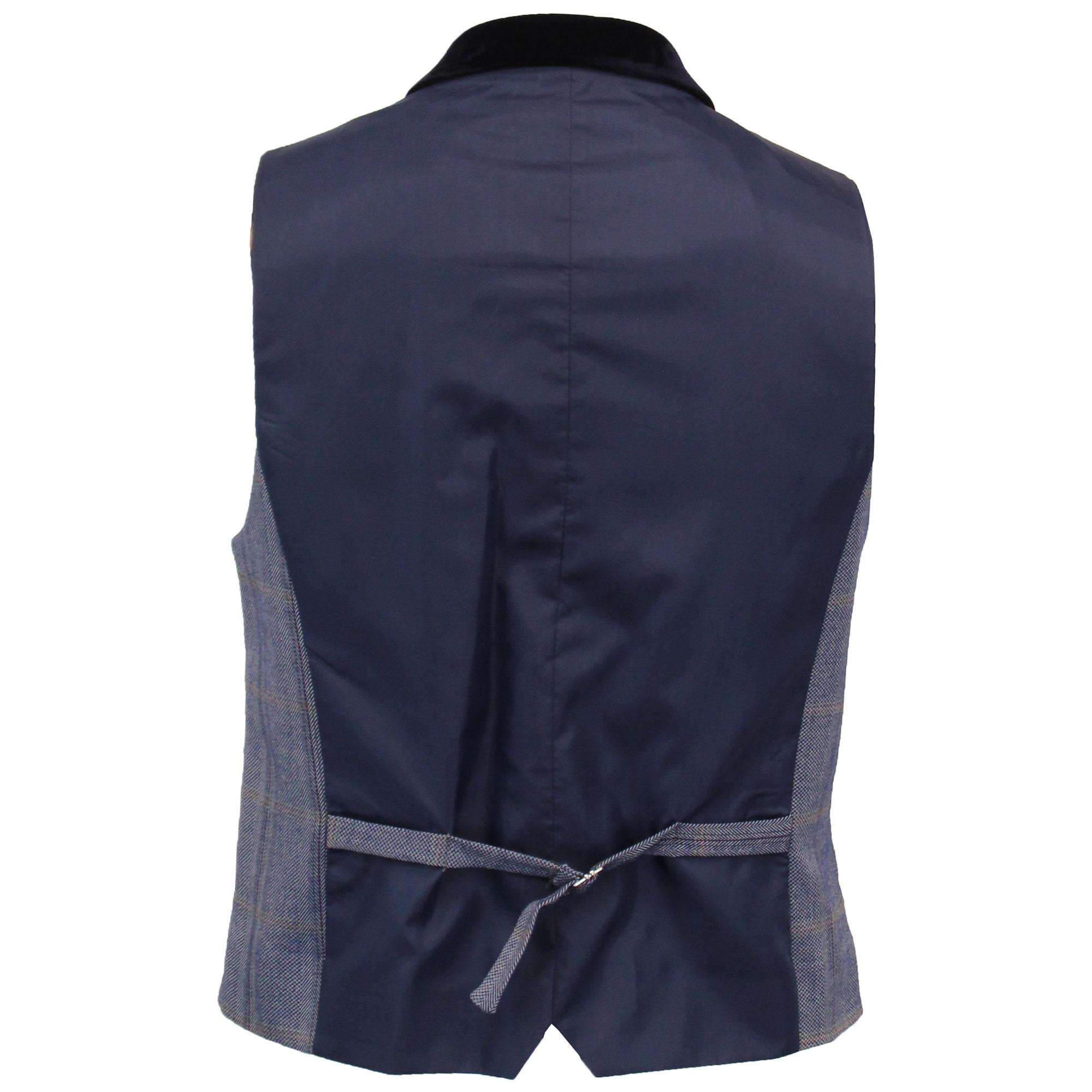 Mens-Tweed-3-Piece-Suit-Cavani-Blazer-Waistcoat-Trousers-Checked-Peaky-Blinders thumbnail 8