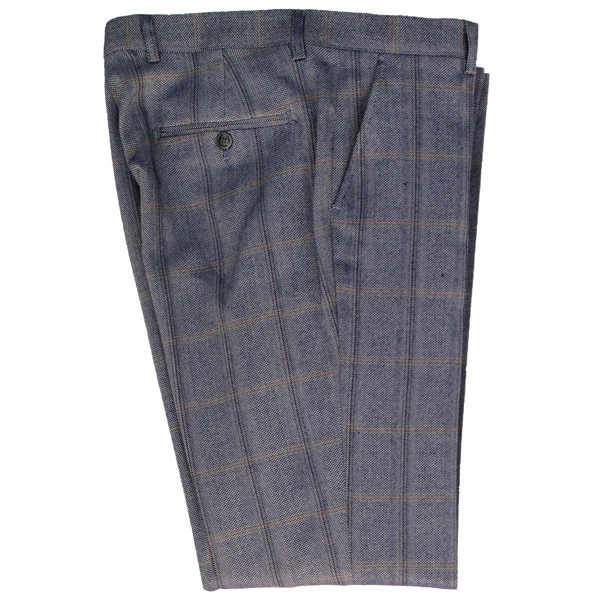 Mens-Tweed-3-Piece-Suit-Cavani-Blazer-Waistcoat-Trousers-Checked-Peaky-Blinders thumbnail 5