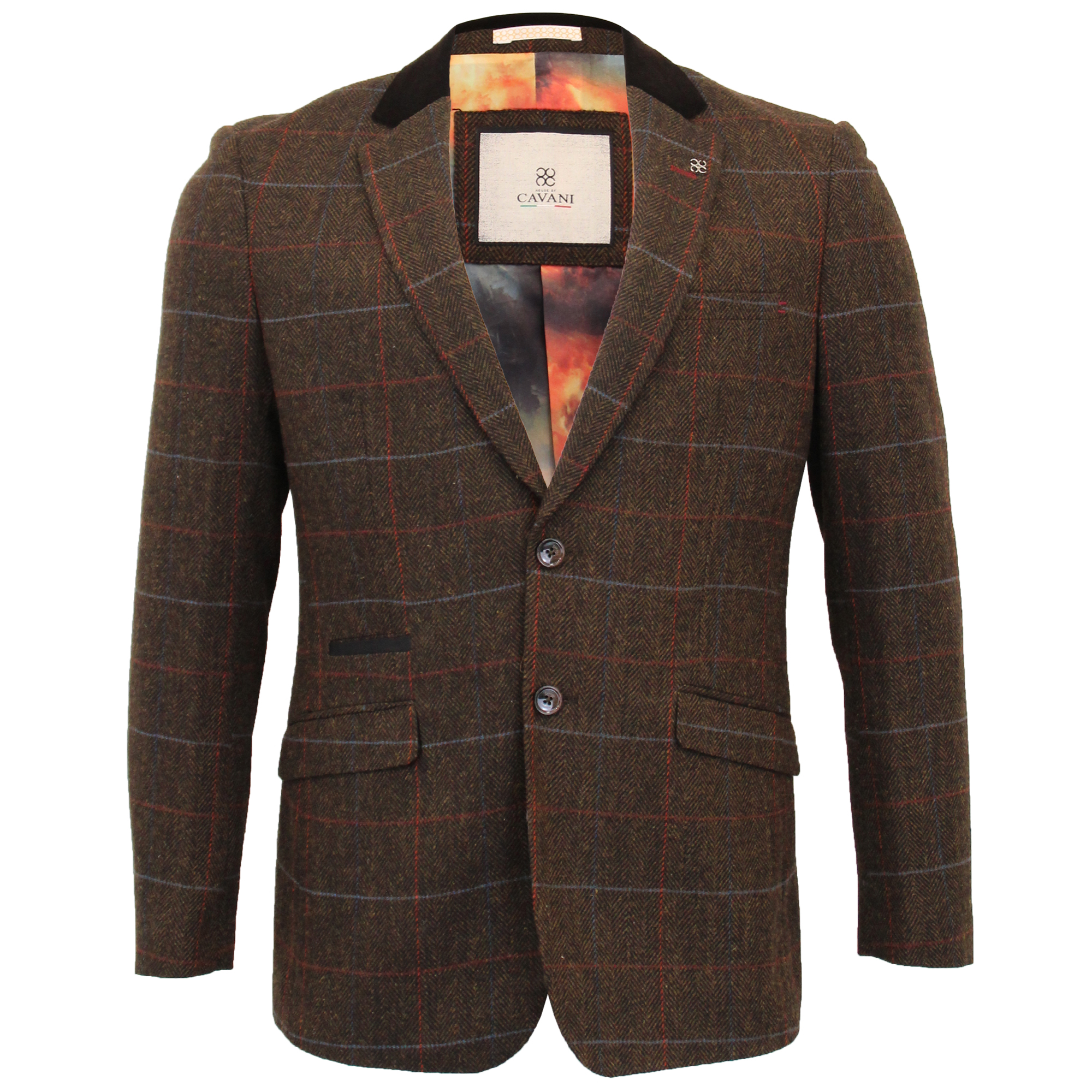 Mens-WOOL-MIX-Tweed-3-Piece-Suit-Cavani-Blazer-Waistcoat-Trouser-Peaky-Blinders thumbnail 2