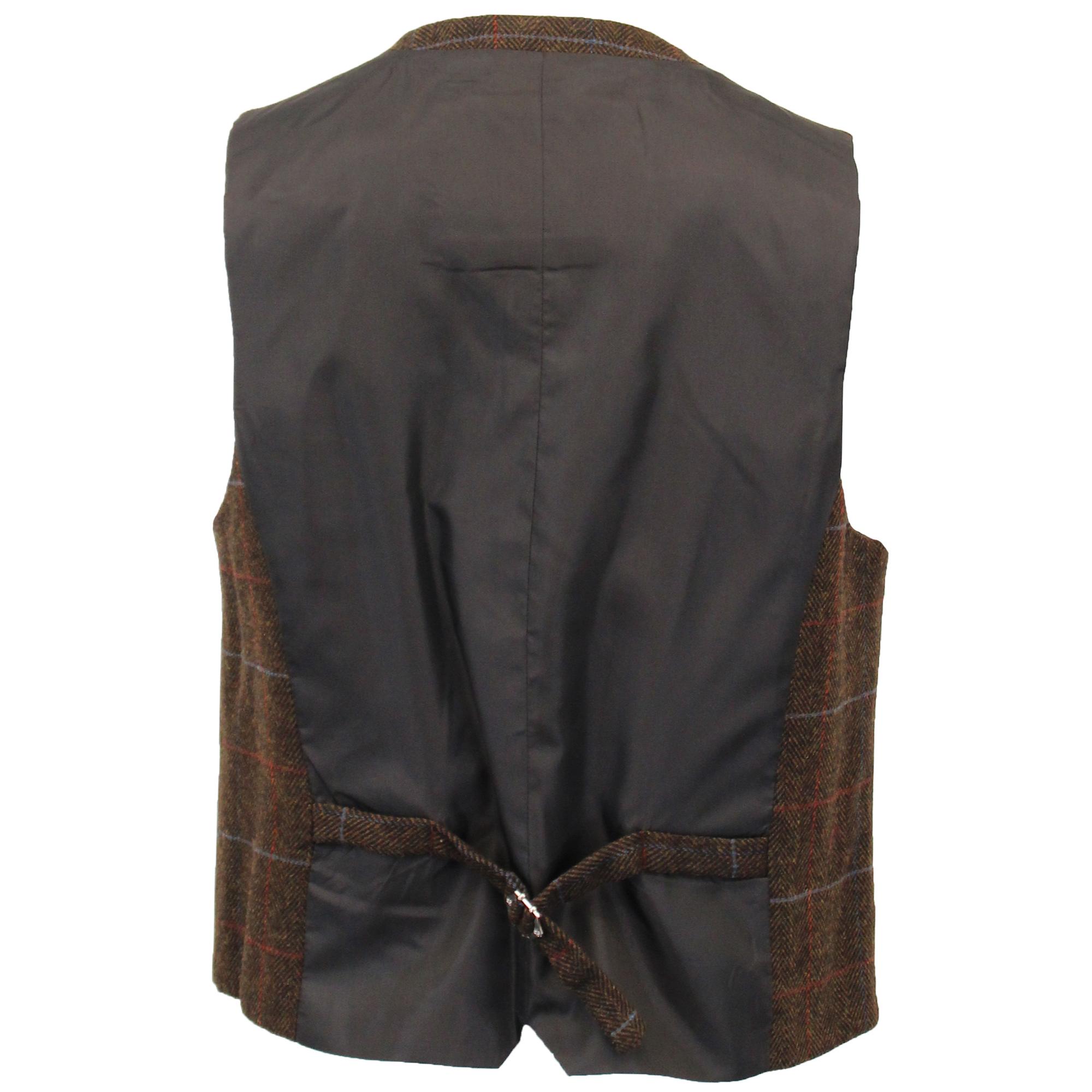 Para-hombre-Traje-de-3-Piezas-De-Lana-Mezcla-Tweed-Cavani-Blazer-Chaleco-Pantalones-palida miniatura 7
