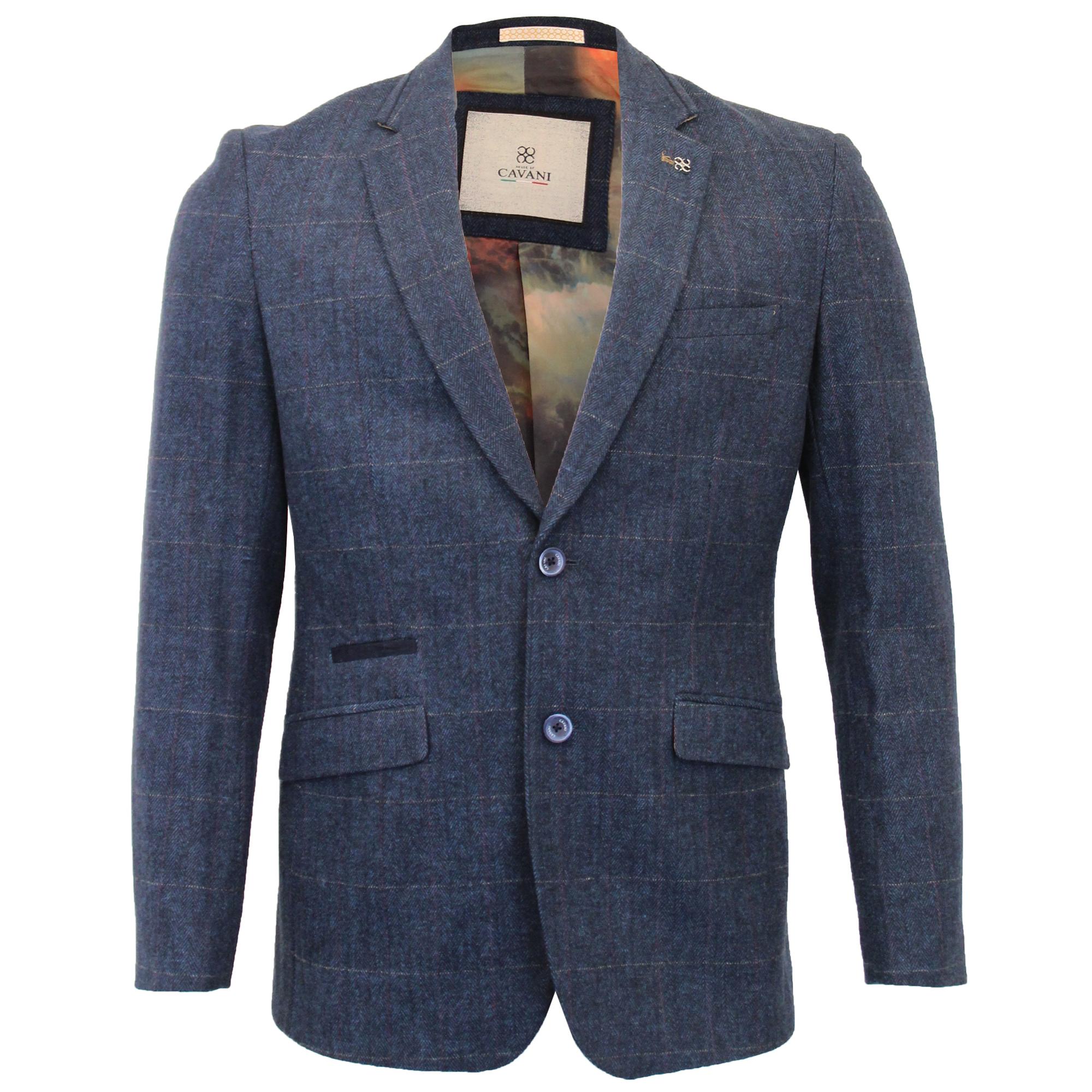 Mens-Wool-Mix-3-Piece-Tweed-Suit-Cavani-CARNEGI-Checked-Peaky-Blinders-Party-New thumbnail 2