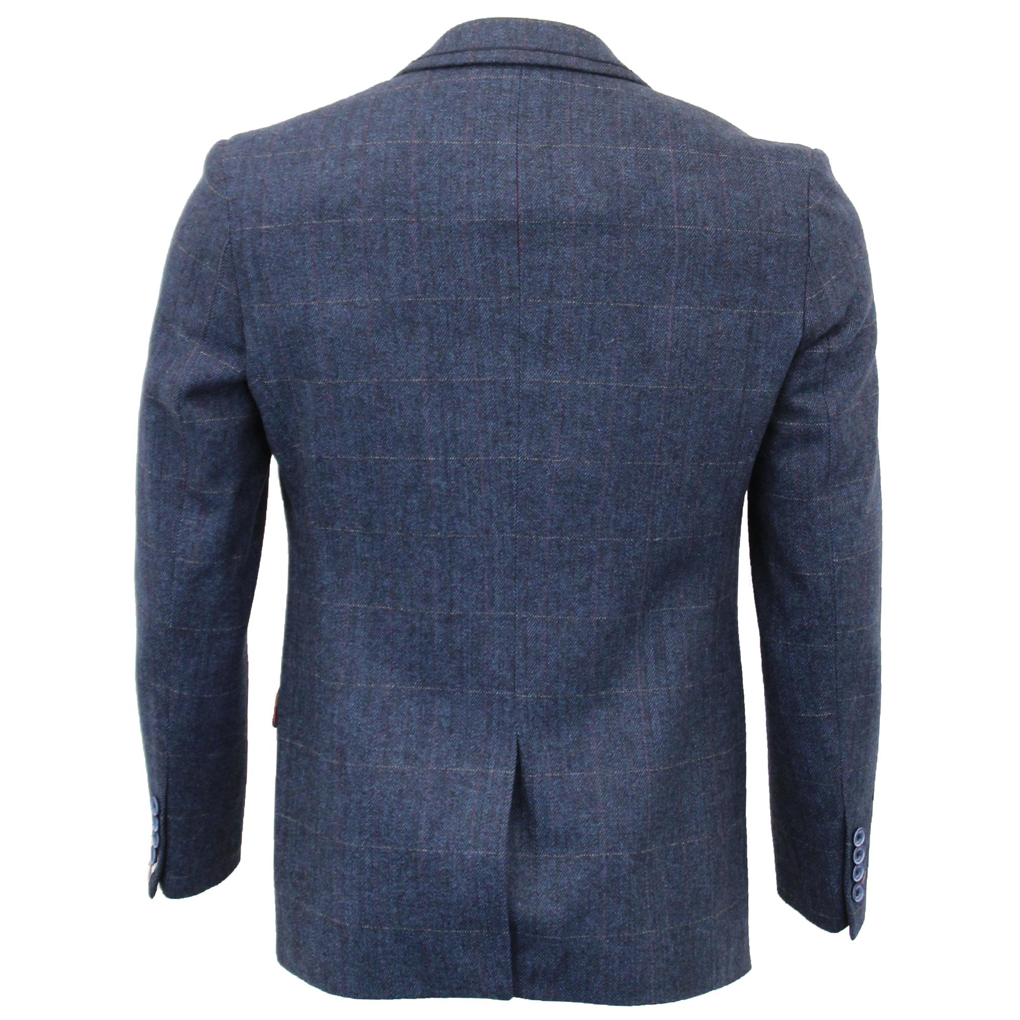 Mens-Wool-Mix-3-Piece-Tweed-Suit-Cavani-CARNEGI-Checked-Peaky-Blinders-Party-New thumbnail 3