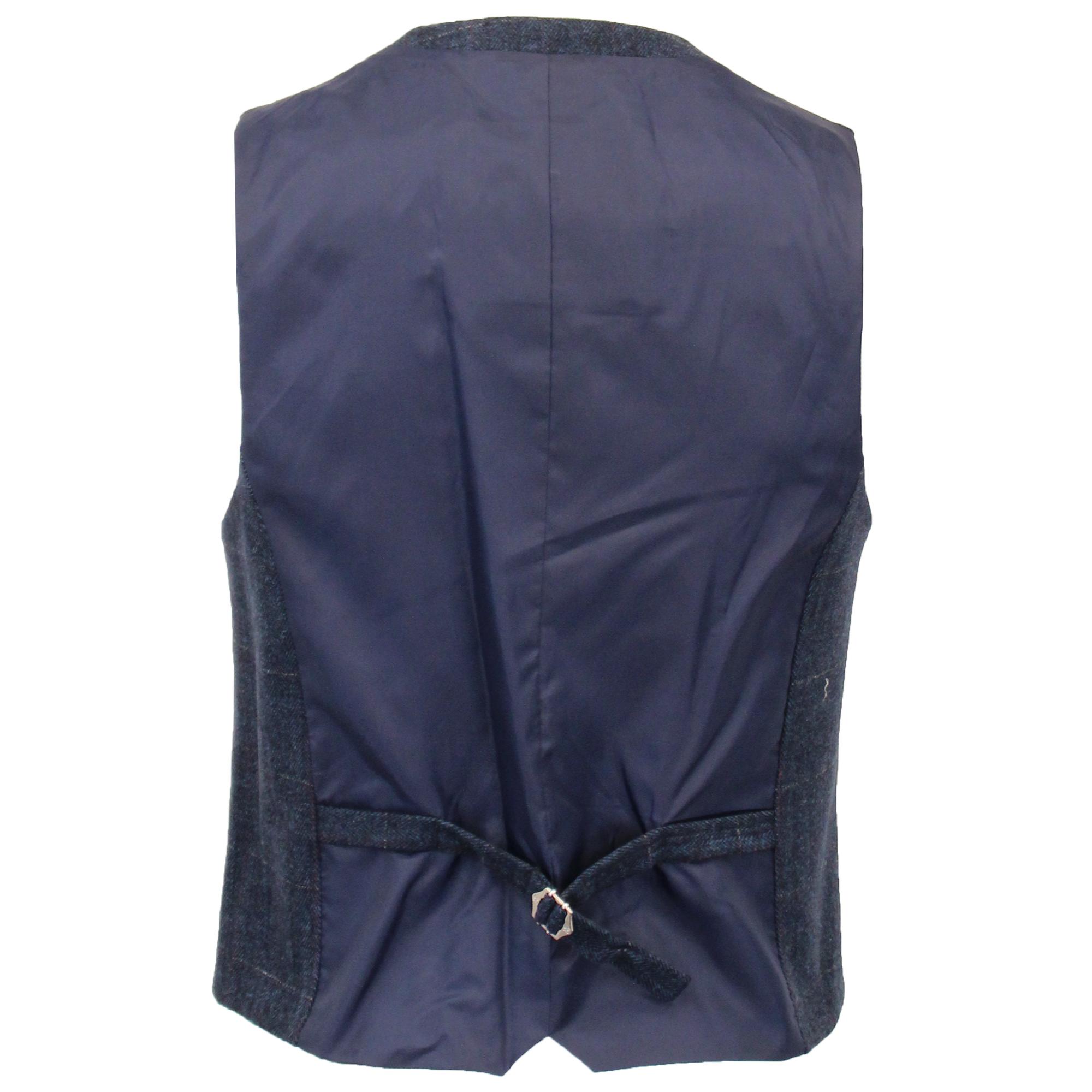 Mens-Wool-Mix-3-Piece-Tweed-Suit-Cavani-CARNEGI-Checked-Peaky-Blinders-Party-New thumbnail 8