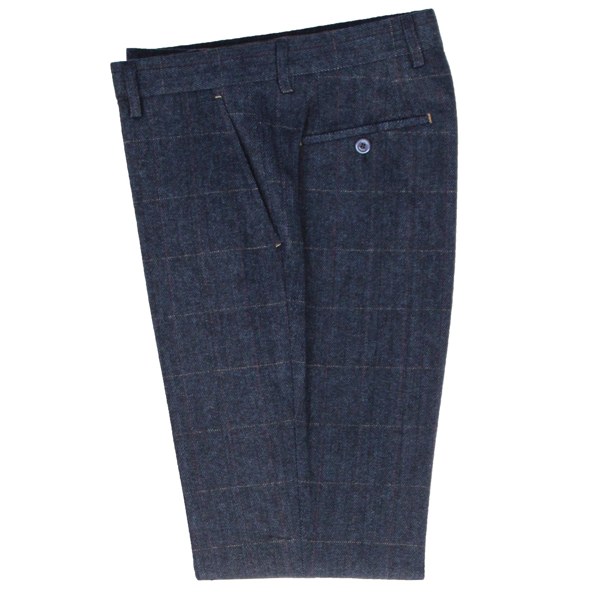 Mens-Wool-Mix-3-Piece-Tweed-Suit-Cavani-CARNEGI-Checked-Peaky-Blinders-Party-New thumbnail 5