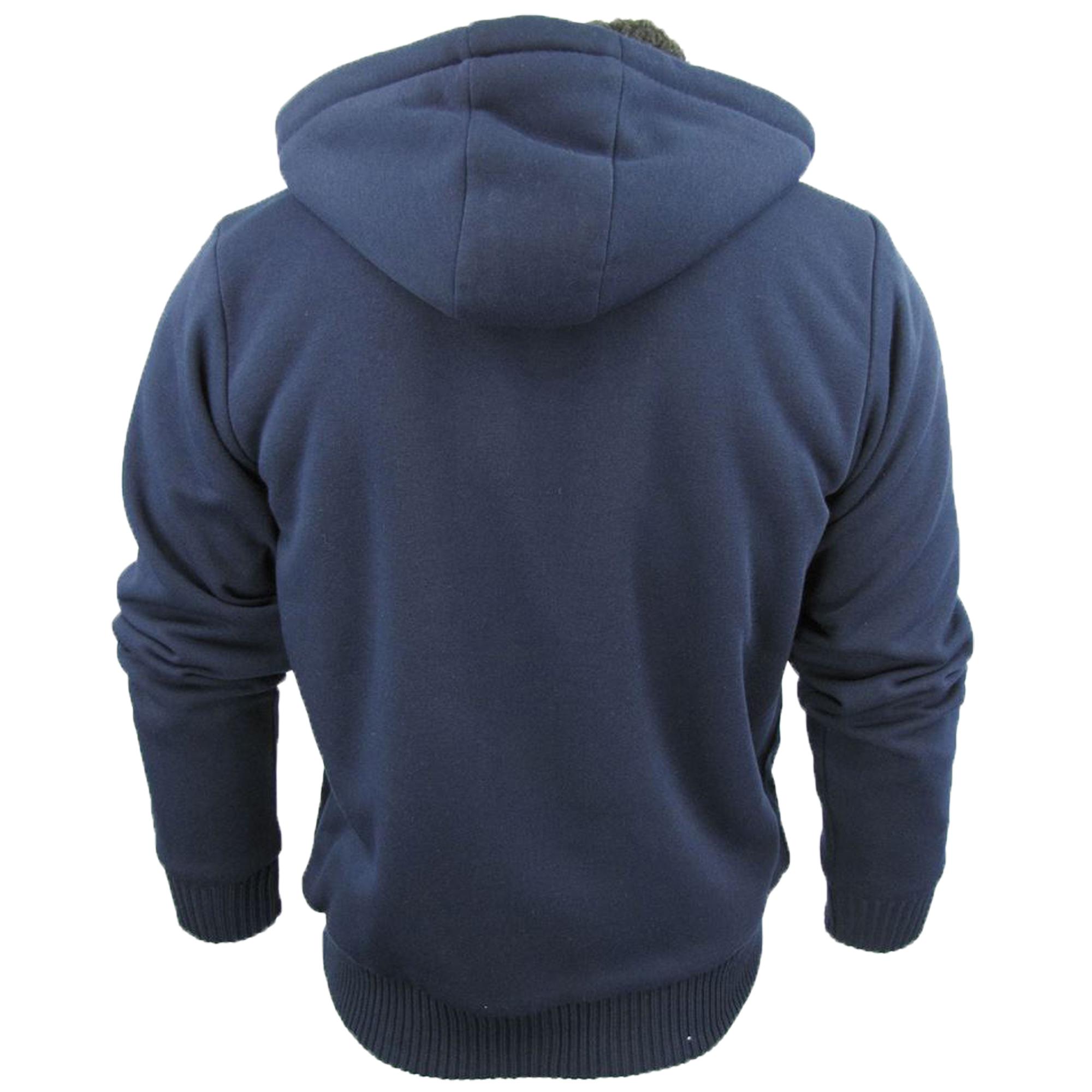 Mens-Jacket-Dissident-Sweatshirt-Hooded-Top-Sherpa-Fleece-Lined-Heavy-BOLO-New thumbnail 7