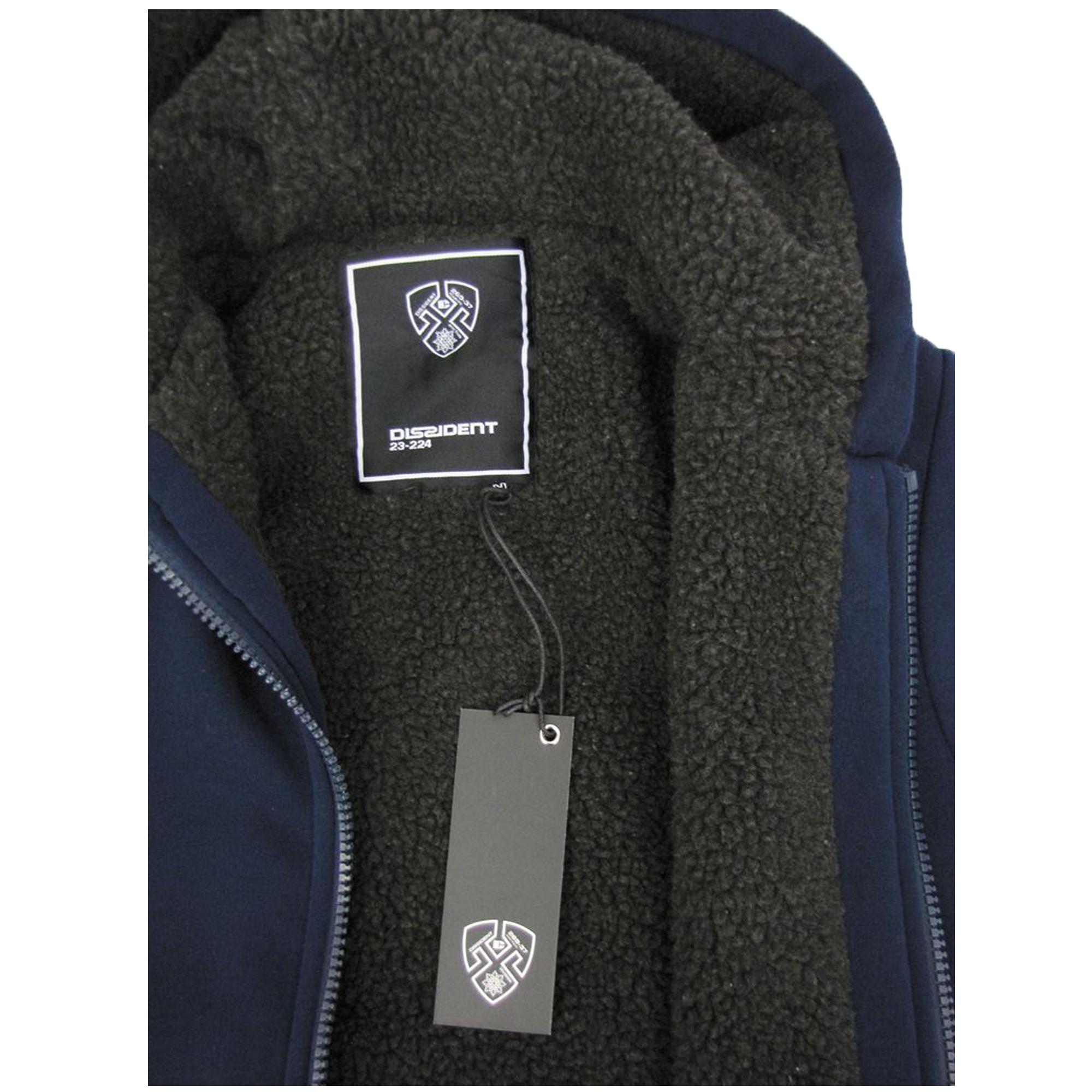 Mens-Jacket-Dissident-Sweatshirt-Hooded-Top-Sherpa-Fleece-Lined-Heavy-BOLO-New thumbnail 8