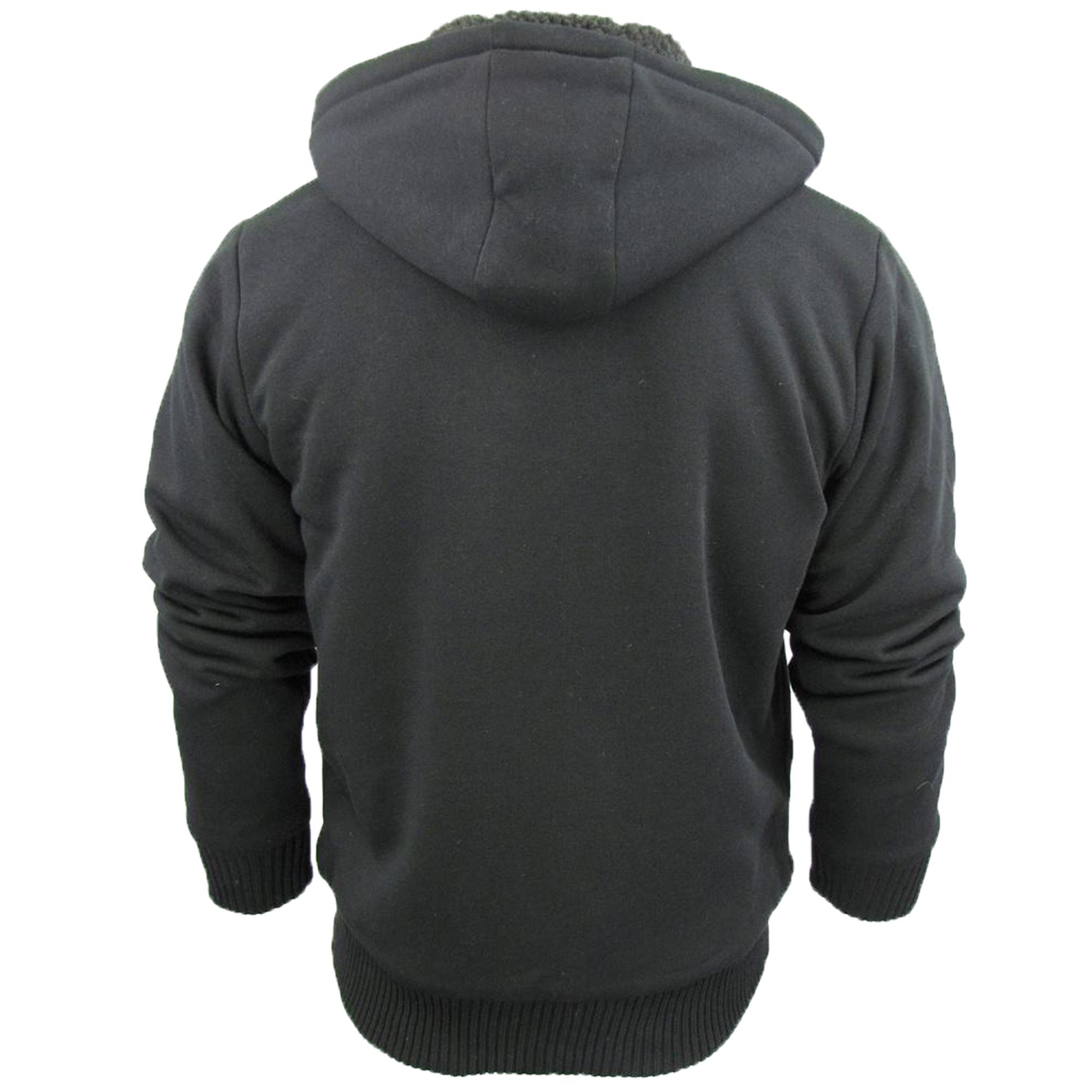 Mens-Jacket-Dissident-Sweatshirt-Hooded-Top-Sherpa-Fleece-Lined-Heavy-BOLO-New thumbnail 3