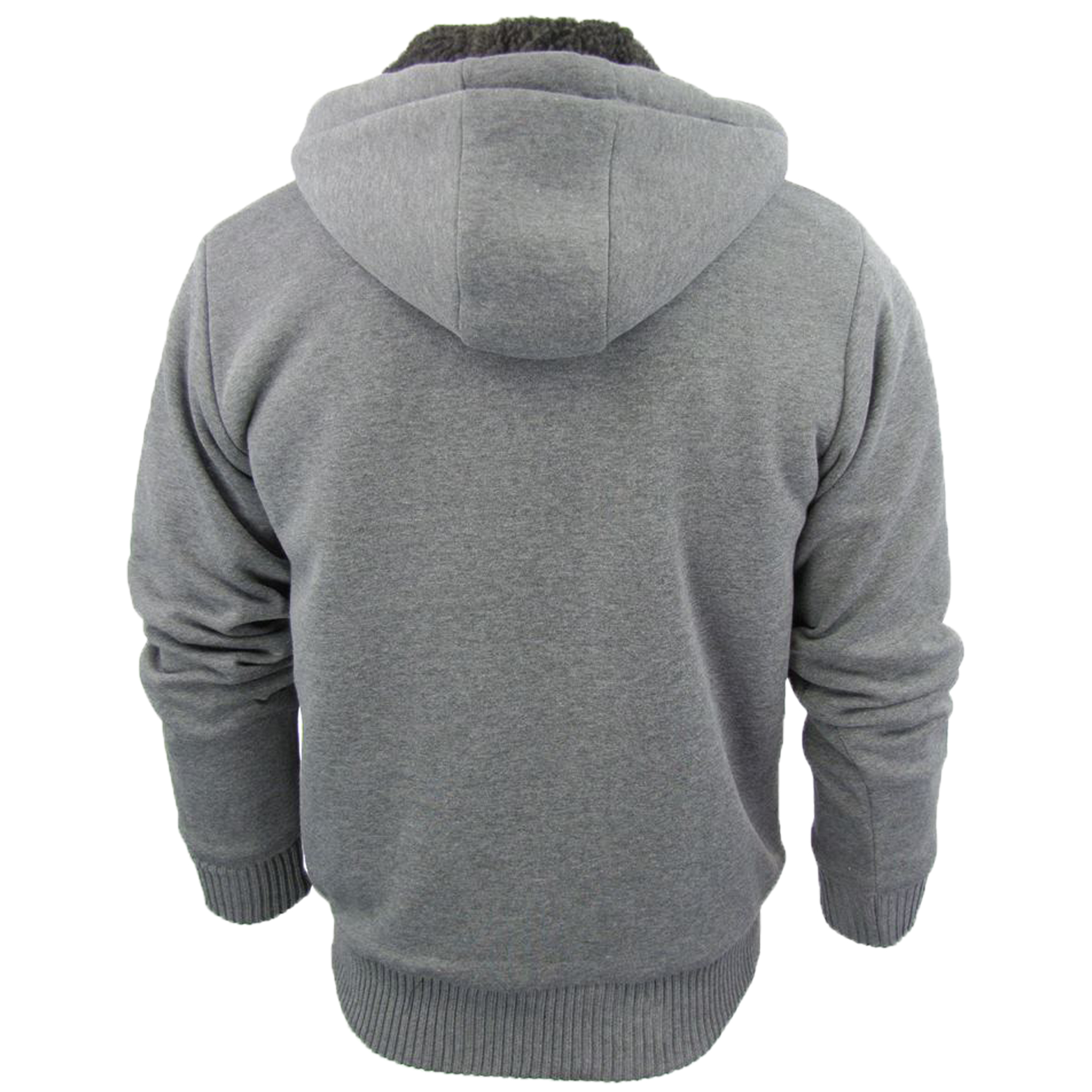 Mens-Jacket-Dissident-Sweatshirt-Hooded-Top-Sherpa-Fleece-Lined-Heavy-BOLO-New thumbnail 13