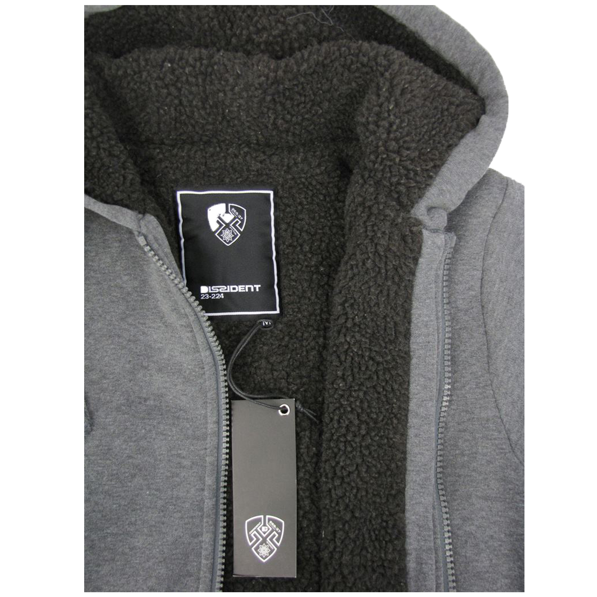Mens-Jacket-Dissident-Sweatshirt-Hooded-Top-Sherpa-Fleece-Lined-Heavy-BOLO-New thumbnail 14