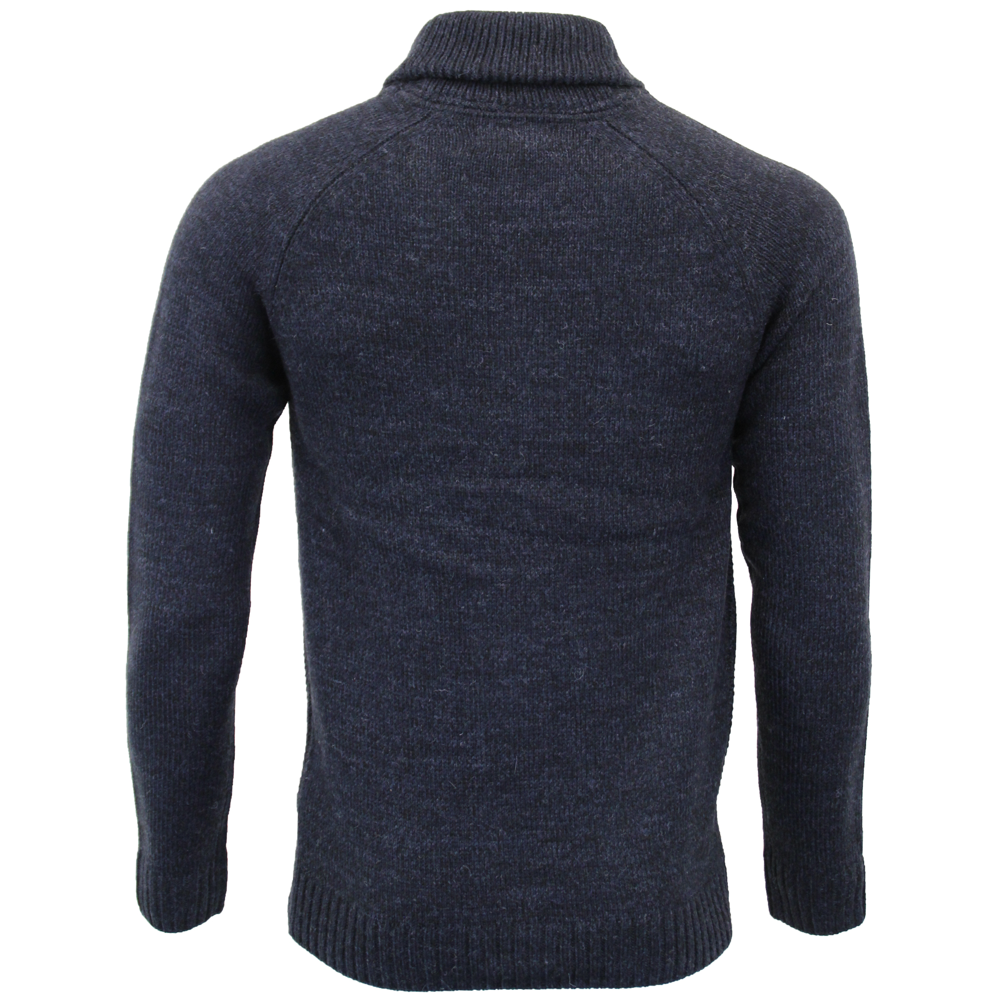 Mens-Wool-Mix-Cardigans-Threadbare-Knitted-Sweater-Broken-Standard-Shawl-Winter thumbnail 18