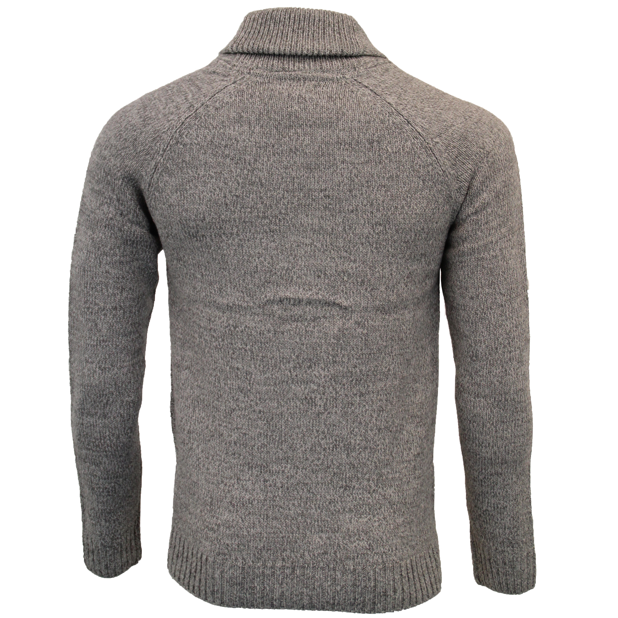 Mens-Wool-Mix-Cardigans-Threadbare-Knitted-Sweater-Broken-Standard-Shawl-Winter thumbnail 12