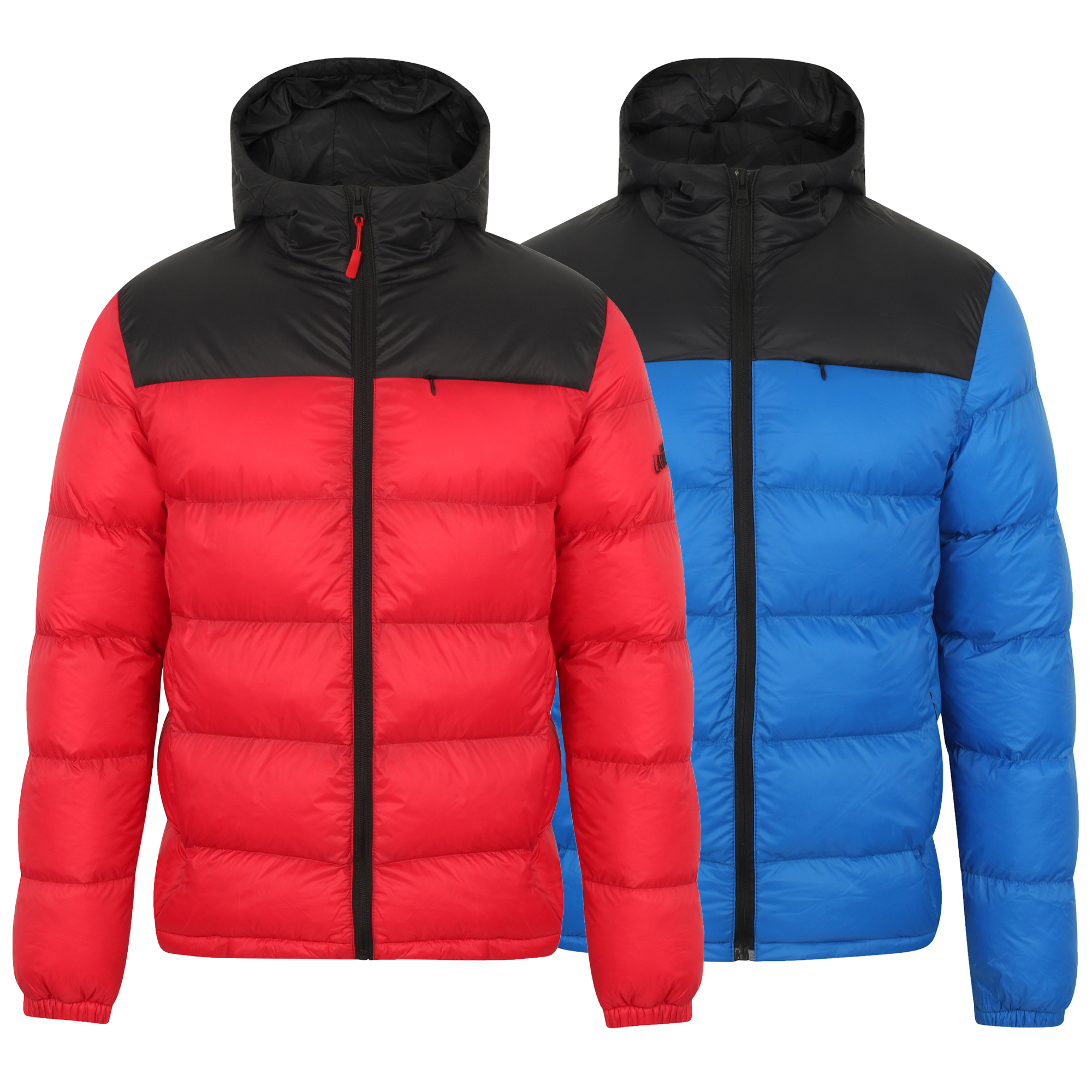 Mens Winter Warm Quilted Hooded Padded Bubble Puffer Jacket Coats Hoodie Tops
