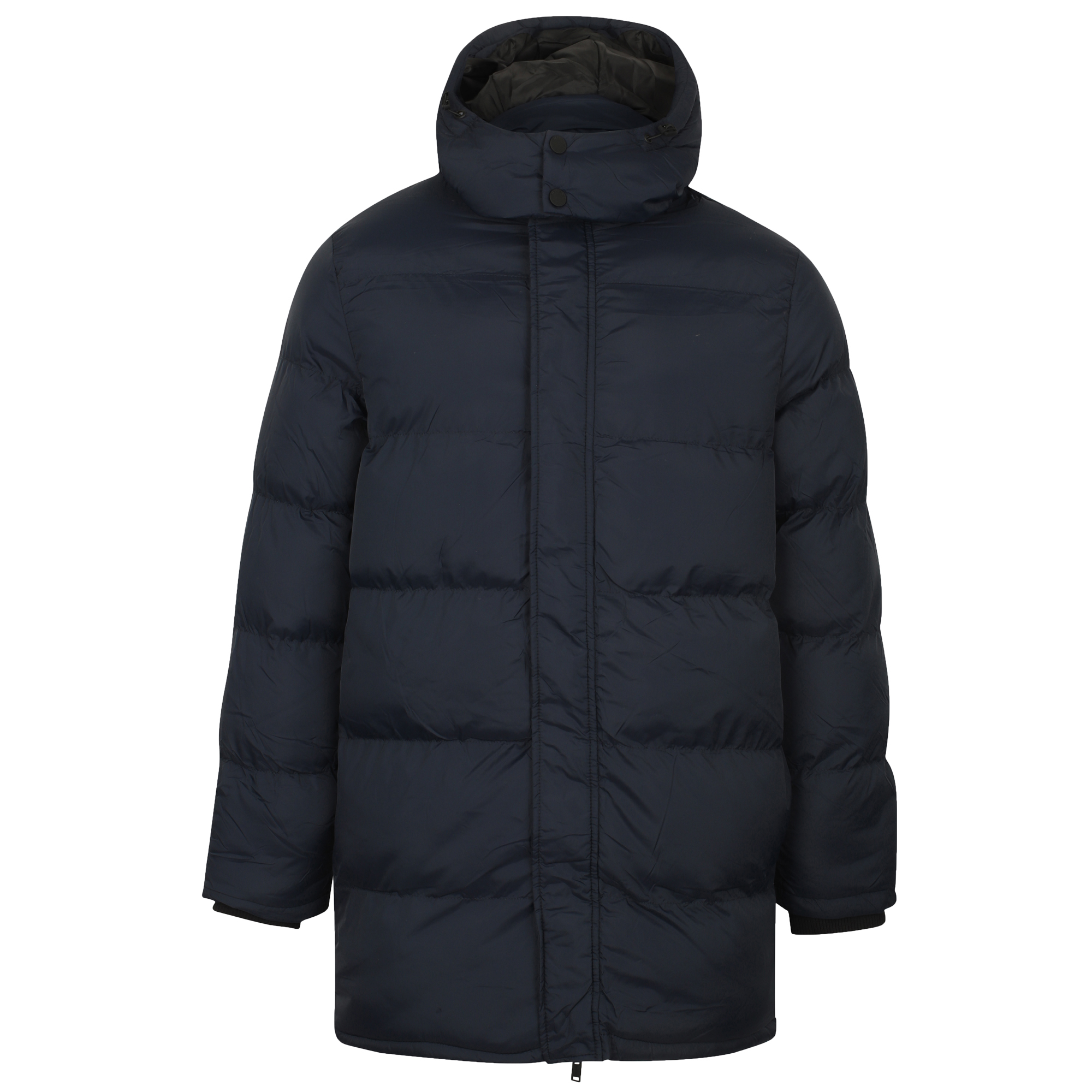 Mens-Padded-Hooded-Long-Jacket-Dissident-Coat-Quilted-DAGNEY-Warm-Winter-Lined thumbnail 4