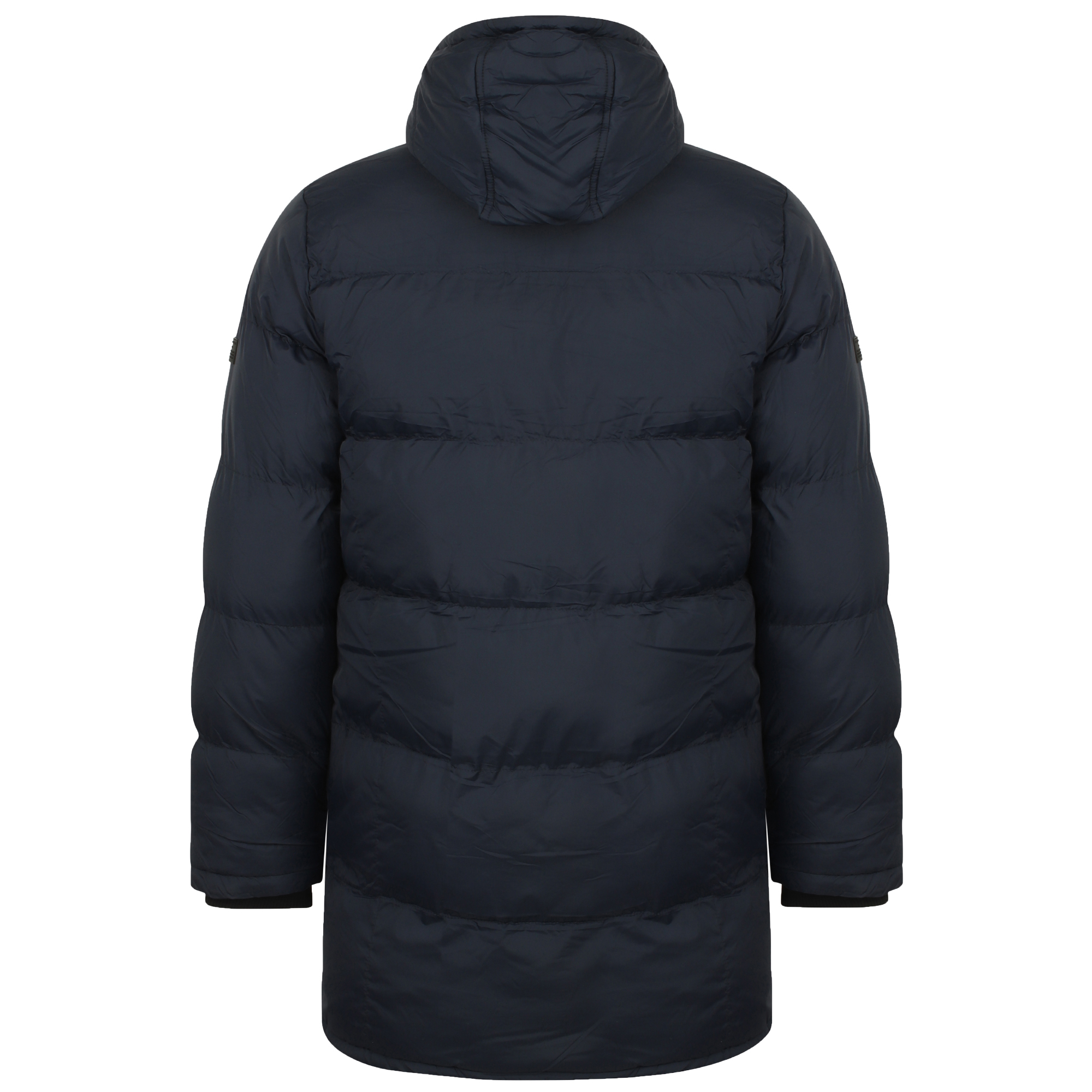 Mens-Padded-Hooded-Long-Jacket-Dissident-Coat-Quilted-DAGNEY-Warm-Winter-Lined thumbnail 3