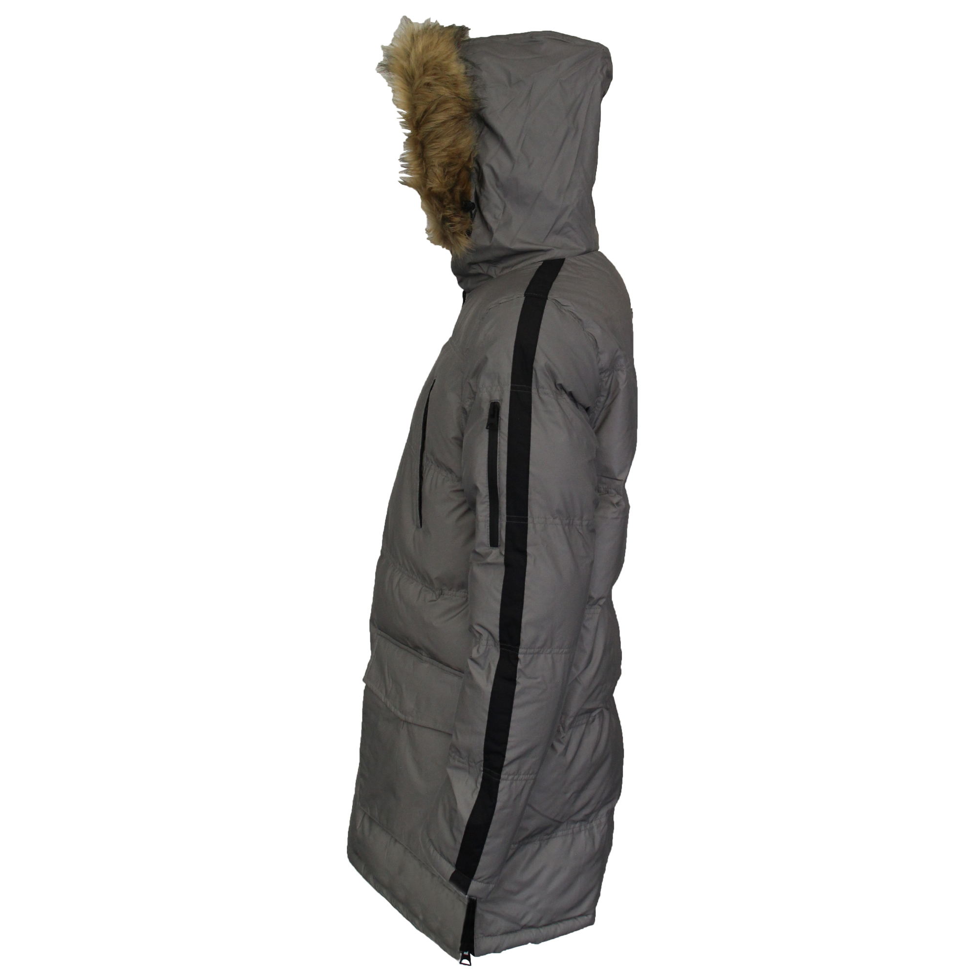 Mens-Reflective-Long-Bubble-Parka-Jacket-Brave-Soul-Coat-Hooded-Padded-Winter thumbnail 9