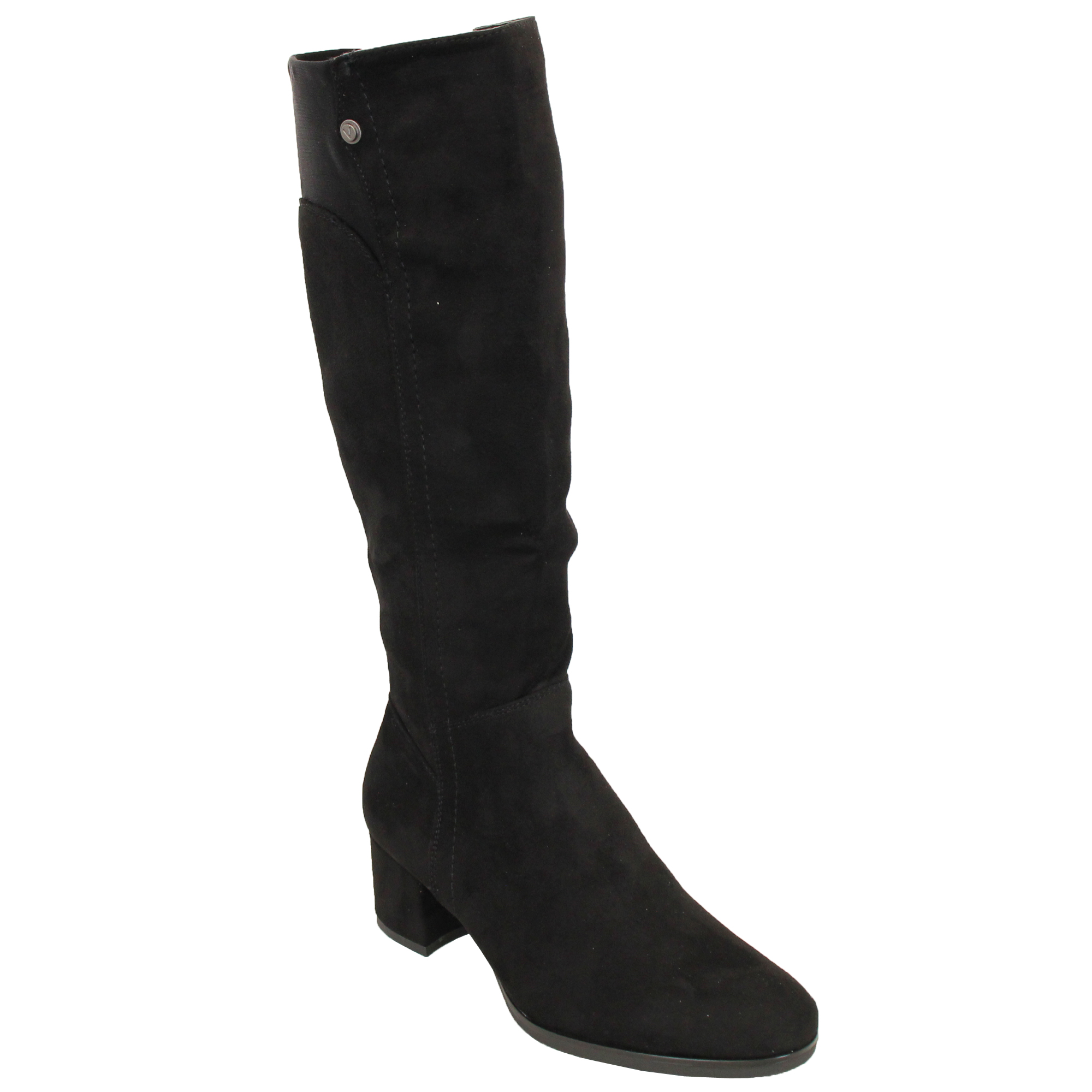 d4bf973b912 Ladies Knee Calf Length Boots Womens Long Suede Look Block Heel ...
