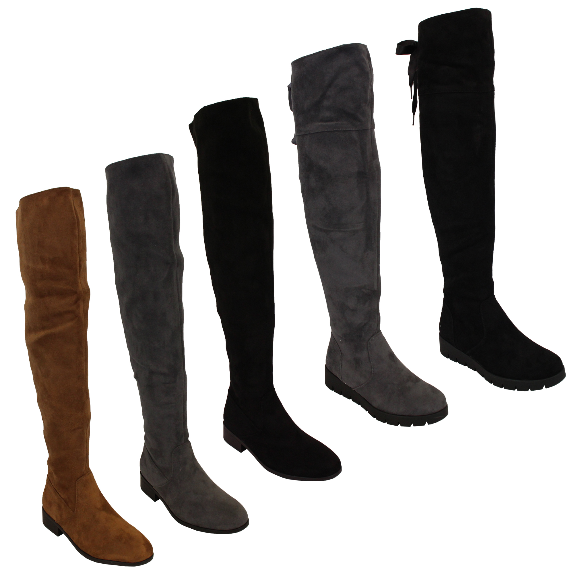 Ladies Womens Boots Long Over The Knee