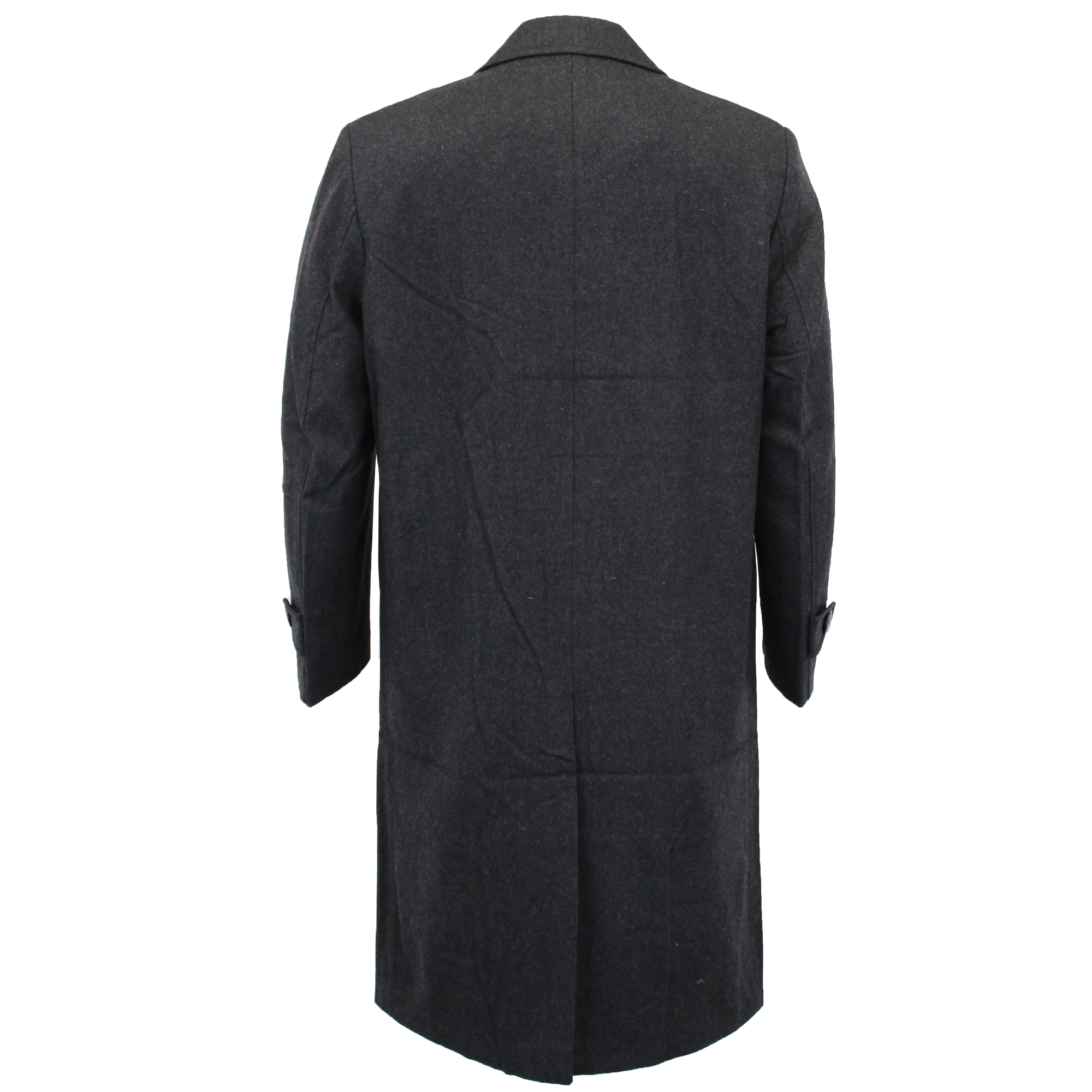 Mens-Wool-Mix-Jacket-Long-Trench-Coat-Collared-Concealed-Button-Lined-Winter-New thumbnail 6