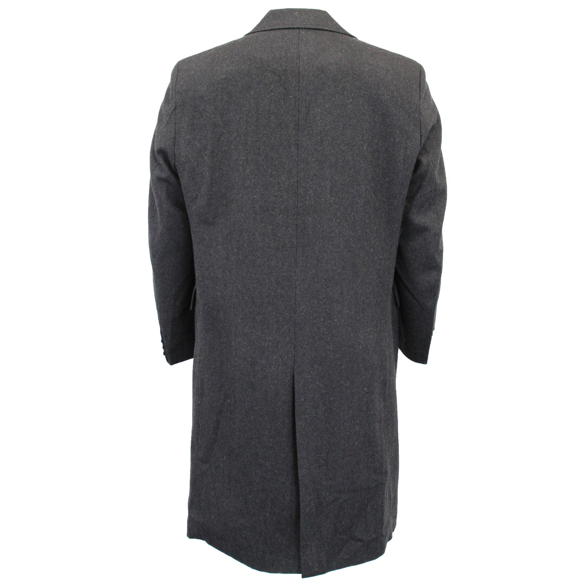 Mens-Wool-Mix-Jacket-Long-Trench-Coat-Collared-Concealed-Button-Lined-Winter-New thumbnail 9